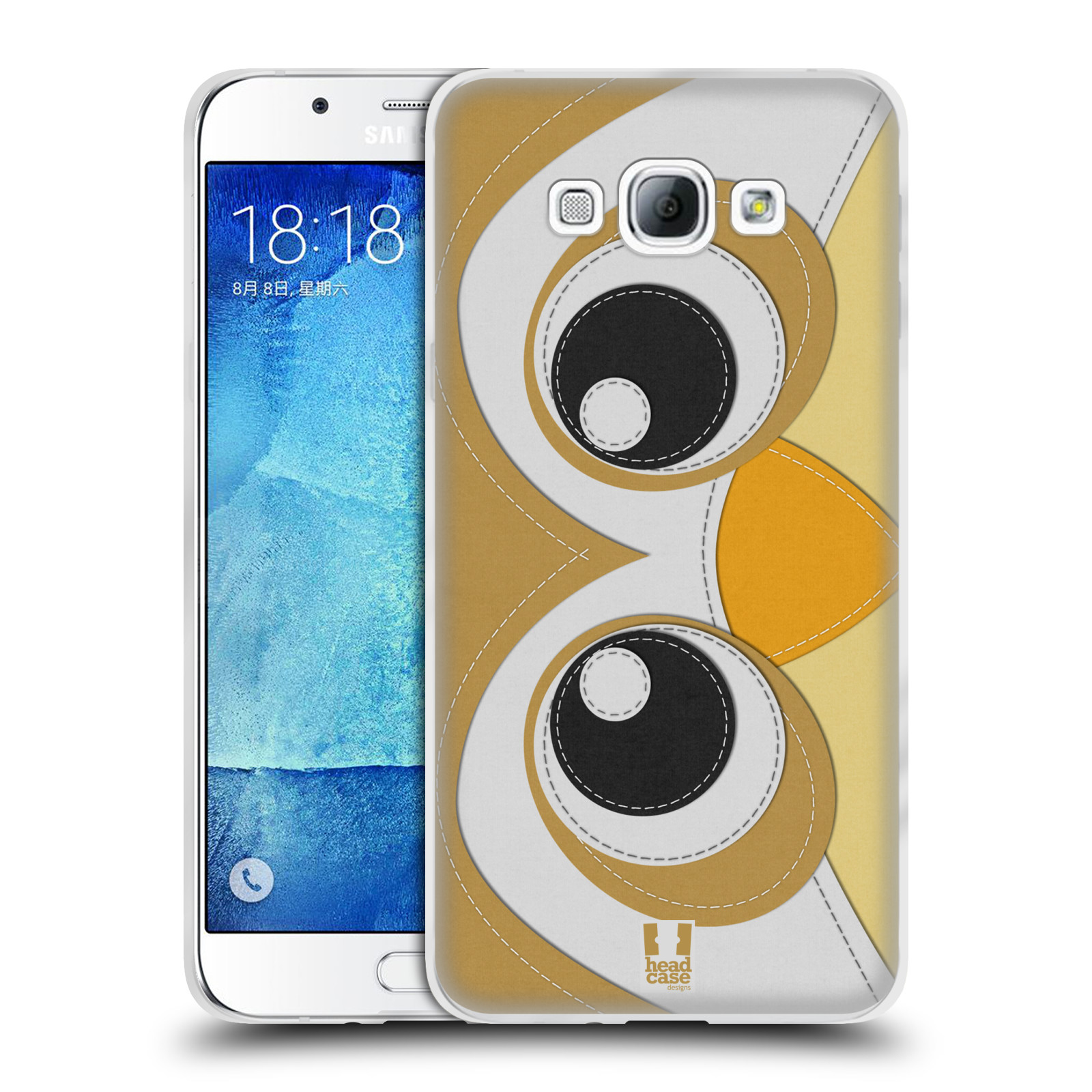 HEAD CASE silikonový obal na mobil Samsung Galaxy A8 vzor zvířecí nášivka sovička