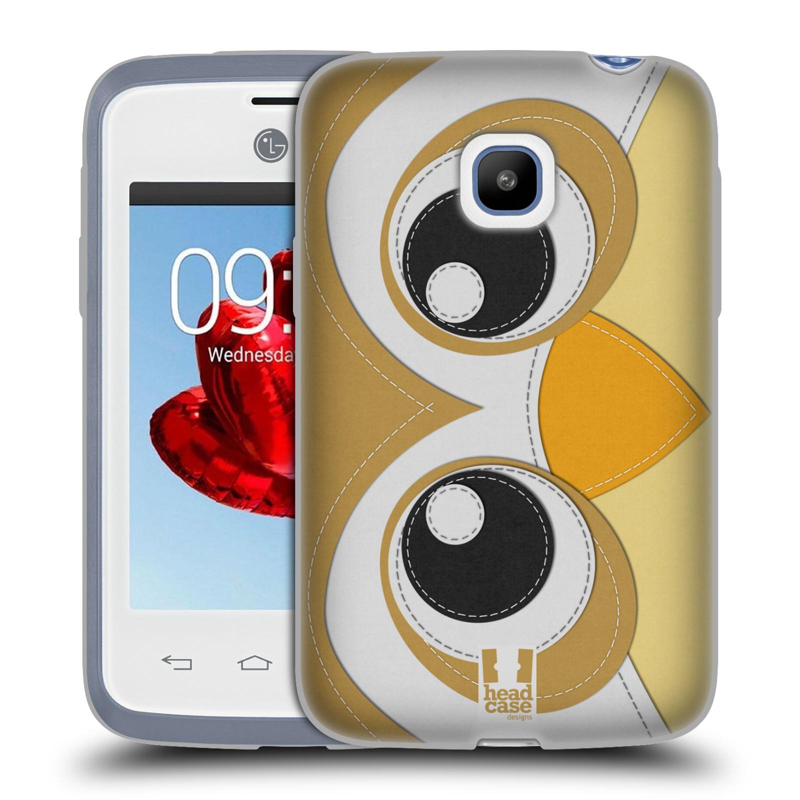 HEAD CASE silikonový obal na mobil LG L20 vzor zvířecí nášivka sovička
