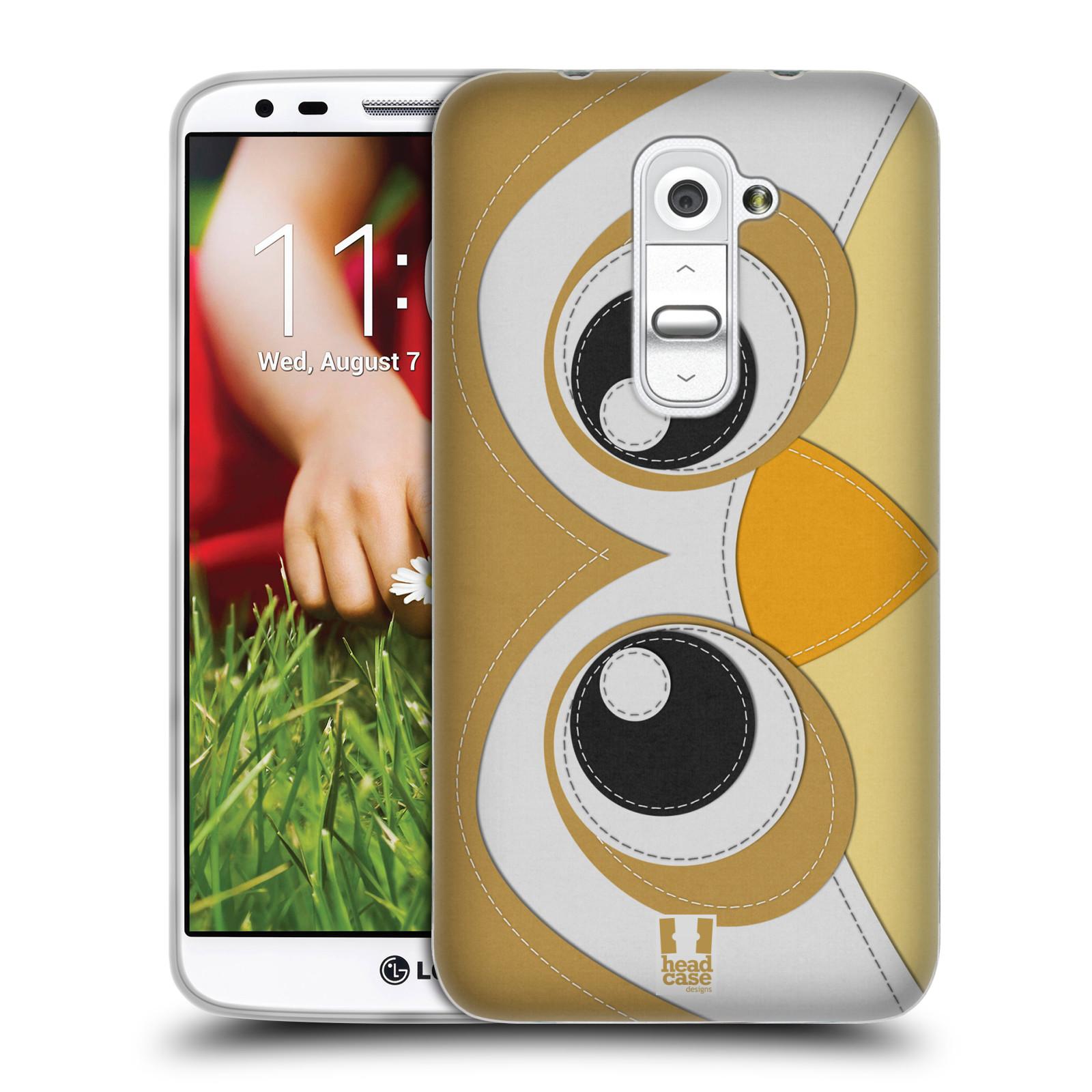 HEAD CASE silikonový obal na mobil LG G2 vzor zvířecí nášivka sovička