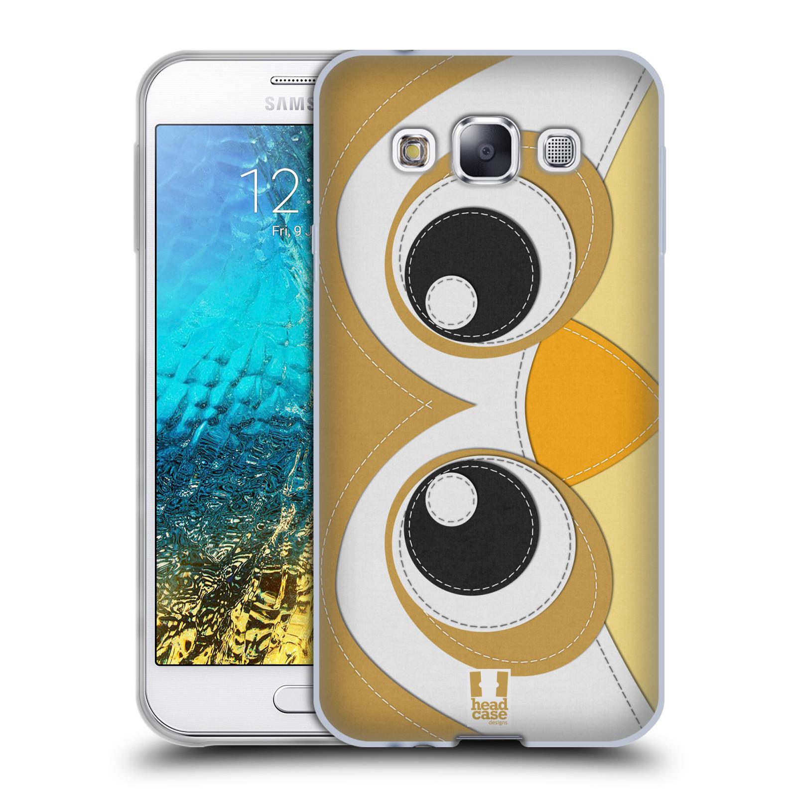 HEAD CASE silikonový obal na mobil Samsung Galaxy E5 vzor zvířecí nášivka sovička