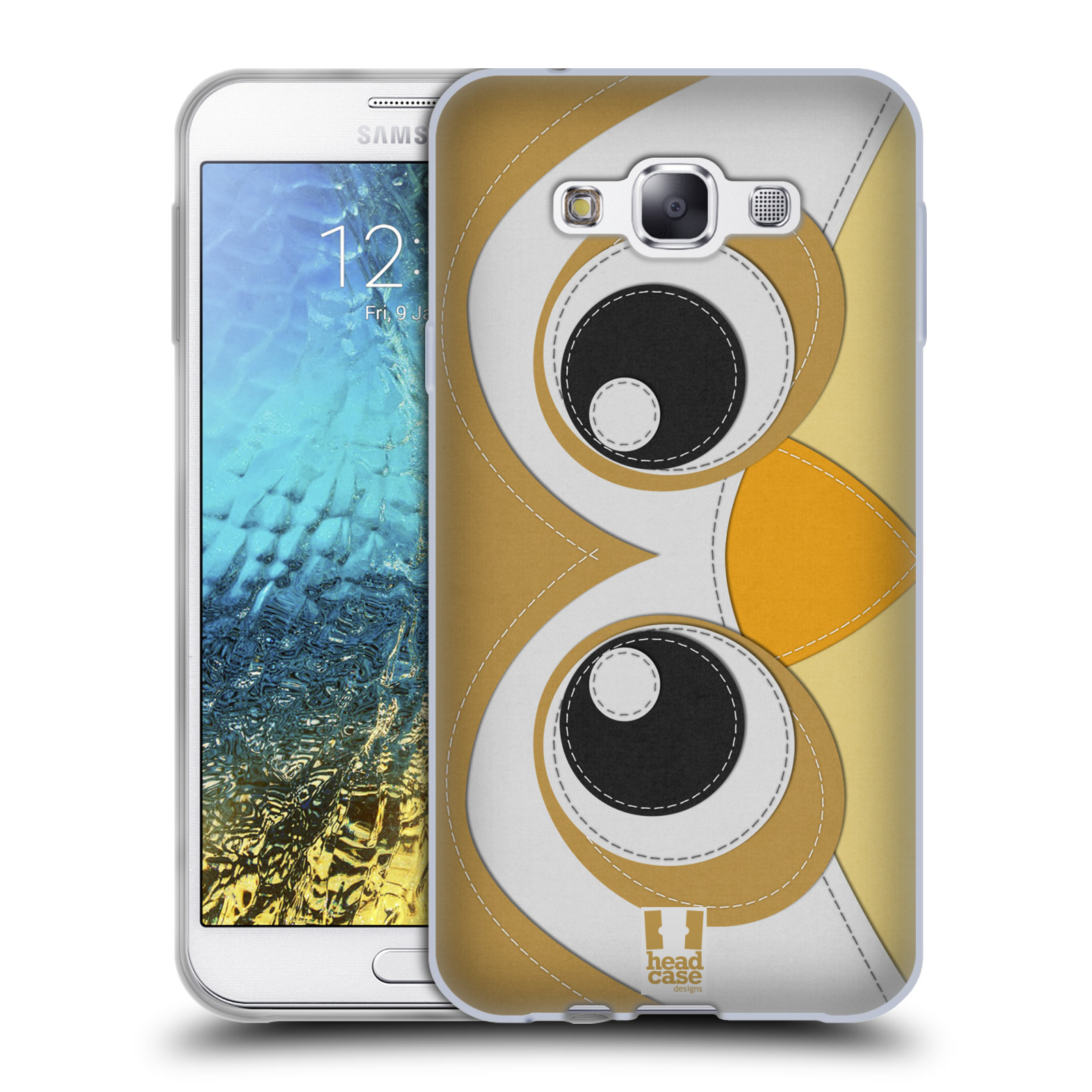 HEAD CASE silikonový obal na mobil Samsung Galaxy E7 vzor zvířecí nášivka sovička