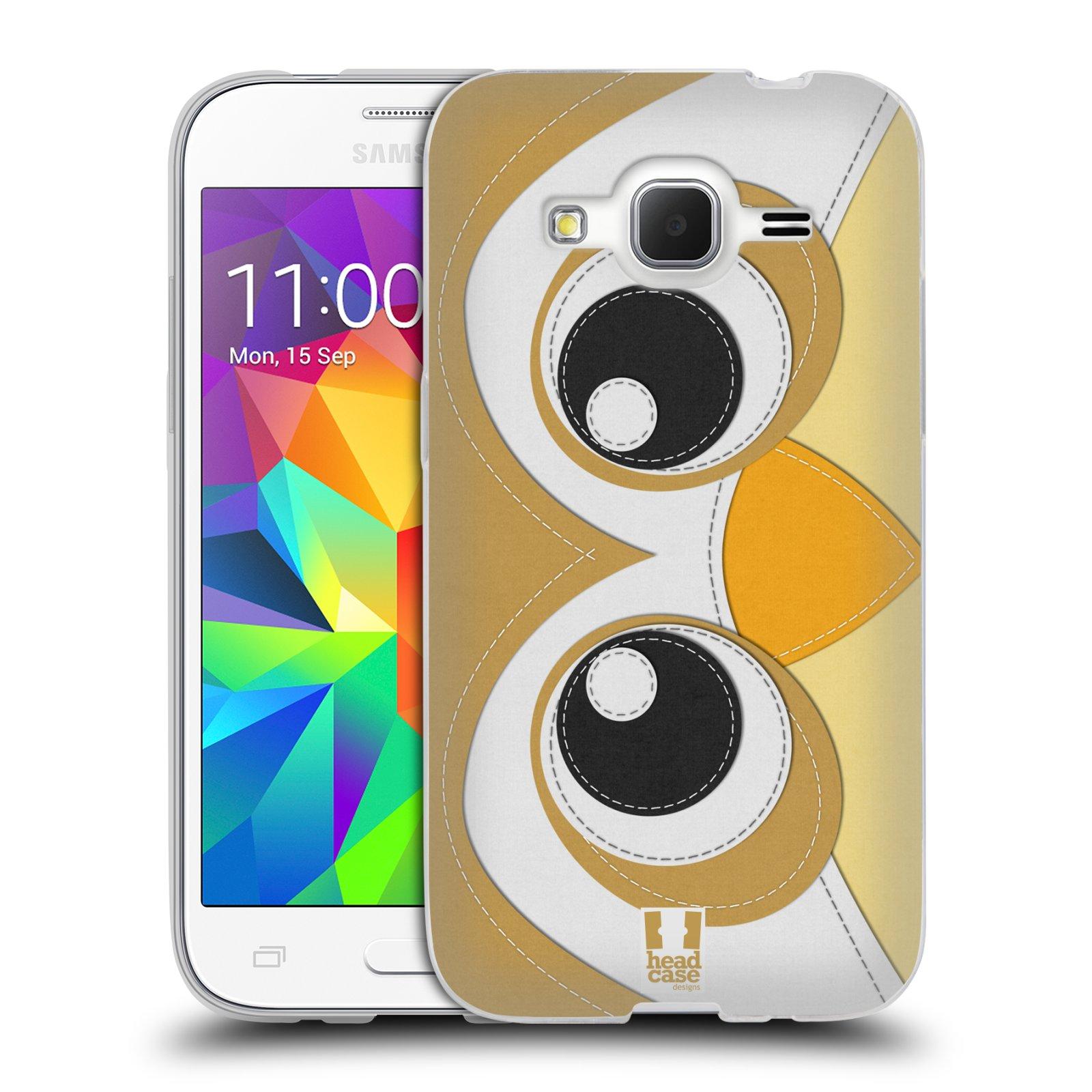 HEAD CASE silikonový obal na mobil Samsung Galaxy Core Prime (G360) vzor zvířecí nášivka sovička