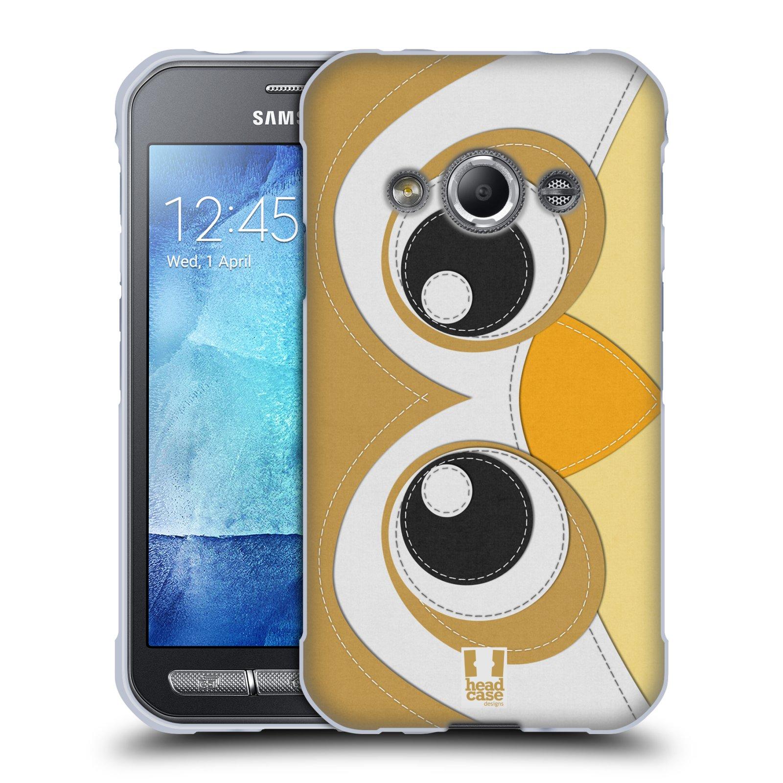 HEAD CASE silikonový obal na mobil Samsung Galaxy Xcover 3 vzor zvířecí nášivka sovička