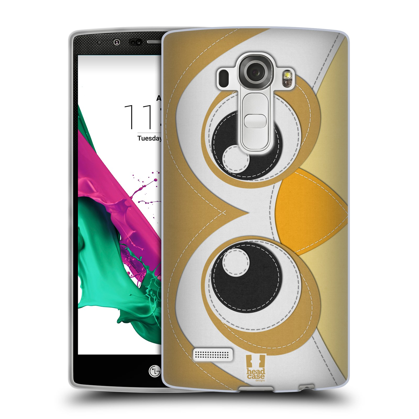 HEAD CASE silikonový obal na mobil LG G4 vzor zvířecí nášivka sovička