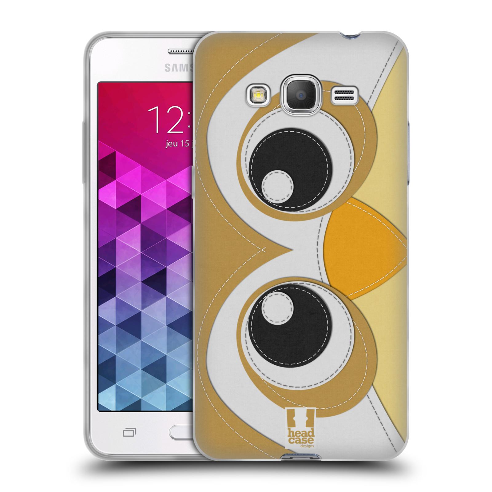 HEAD CASE silikonový obal na mobil Samsung Galaxy GRAND PRIME vzor zvířecí nášivka sovička