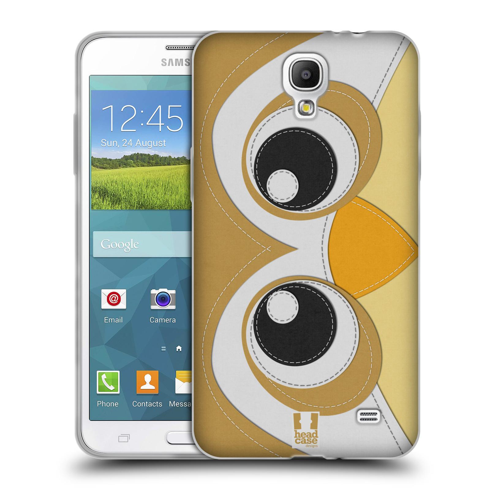 HEAD CASE silikonový obal na mobil Samsung Galaxy Mega 2 vzor zvířecí nášivka sovička
