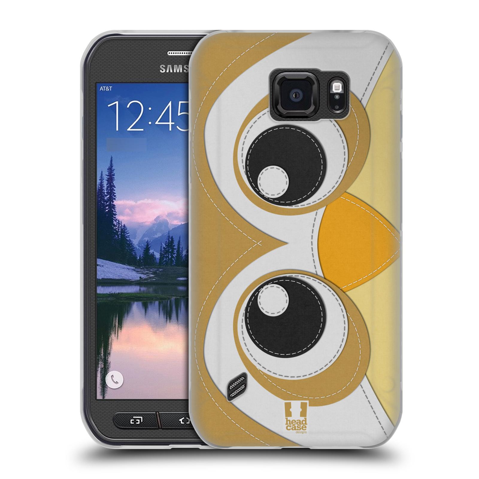 HEAD CASE silikonový obal na mobil Samsung Galaxy S6 ACTIVE vzor zvířecí nášivka sovička