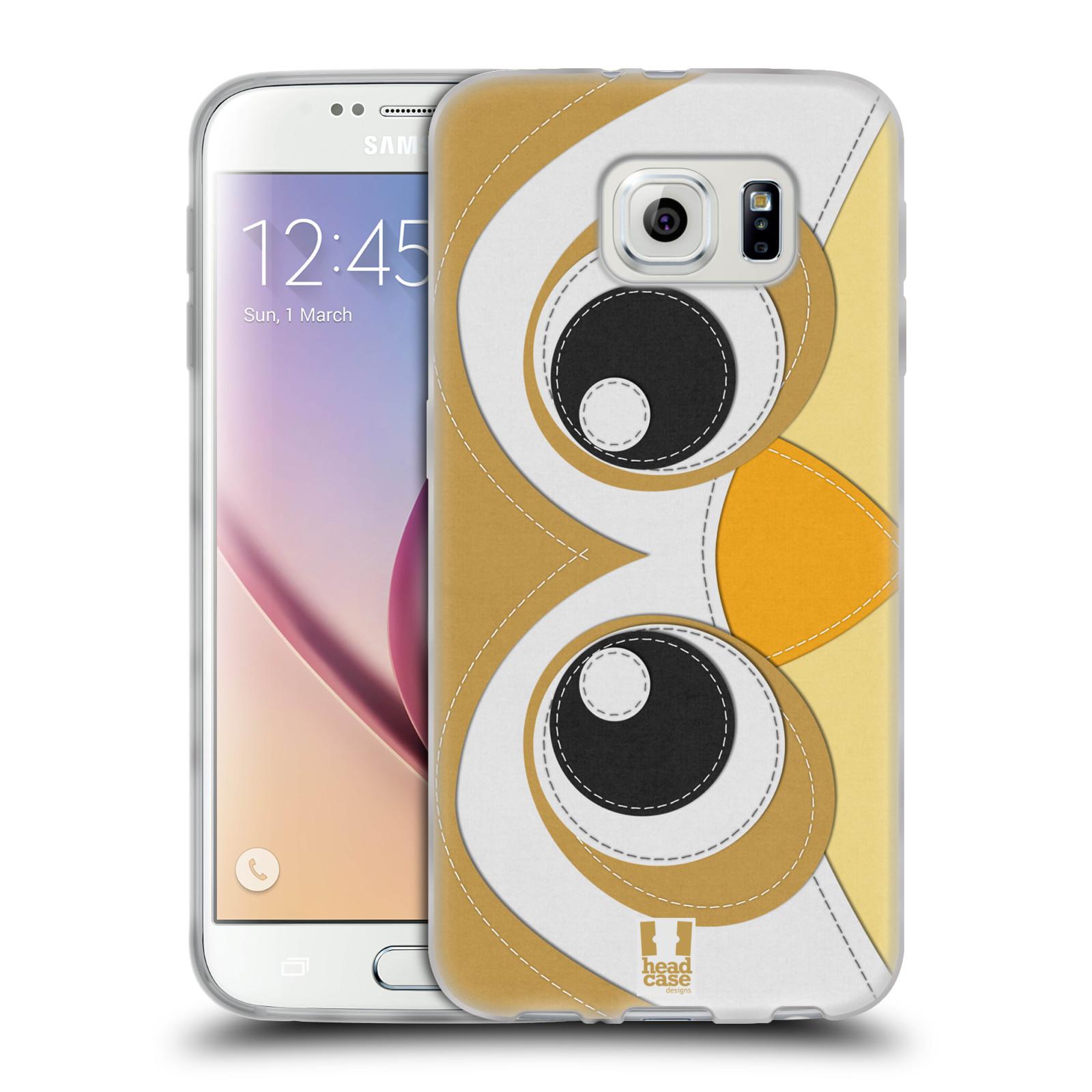 HEAD CASE silikonový obal na mobil Samsung Galaxy S6 vzor zvířecí nášivka sovička