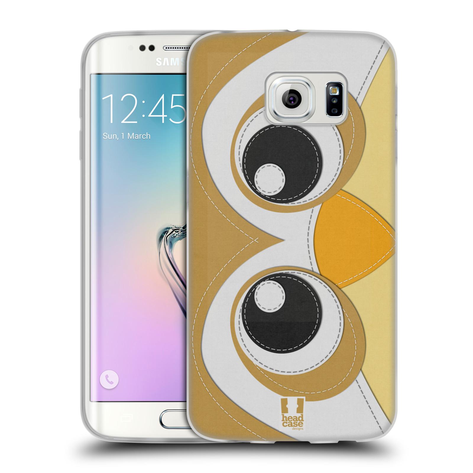 HEAD CASE silikonový obal na mobil Samsung Galaxy S6 EDGE vzor zvířecí nášivka sovička