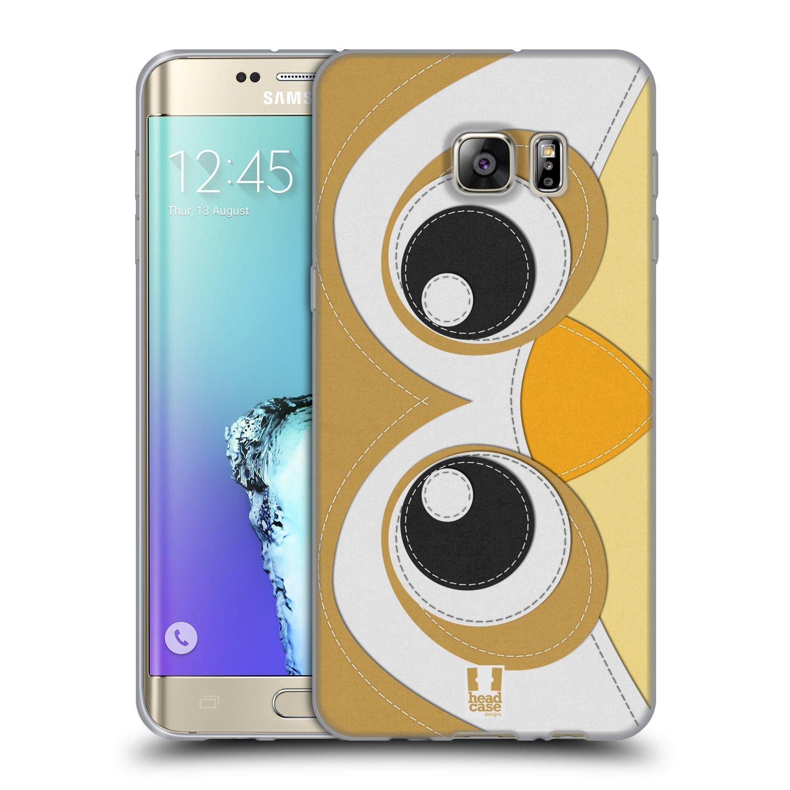 HEAD CASE silikonový obal na mobil Samsung Galaxy S6 EDGE PLUS vzor zvířecí nášivka sovička