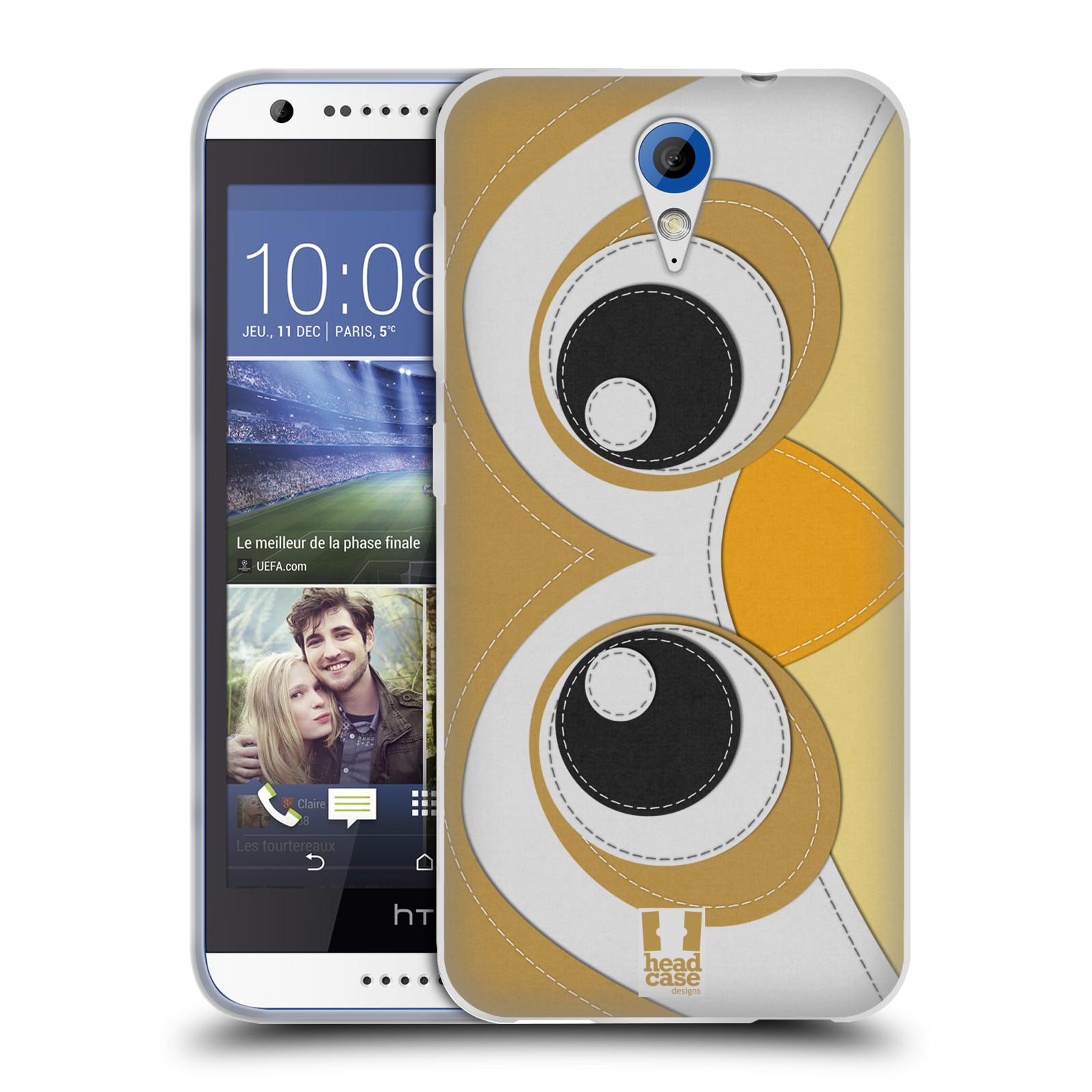 HEAD CASE silikonový obal na mobil HTC DESIRE 620 vzor zvířecí nášivka sovička