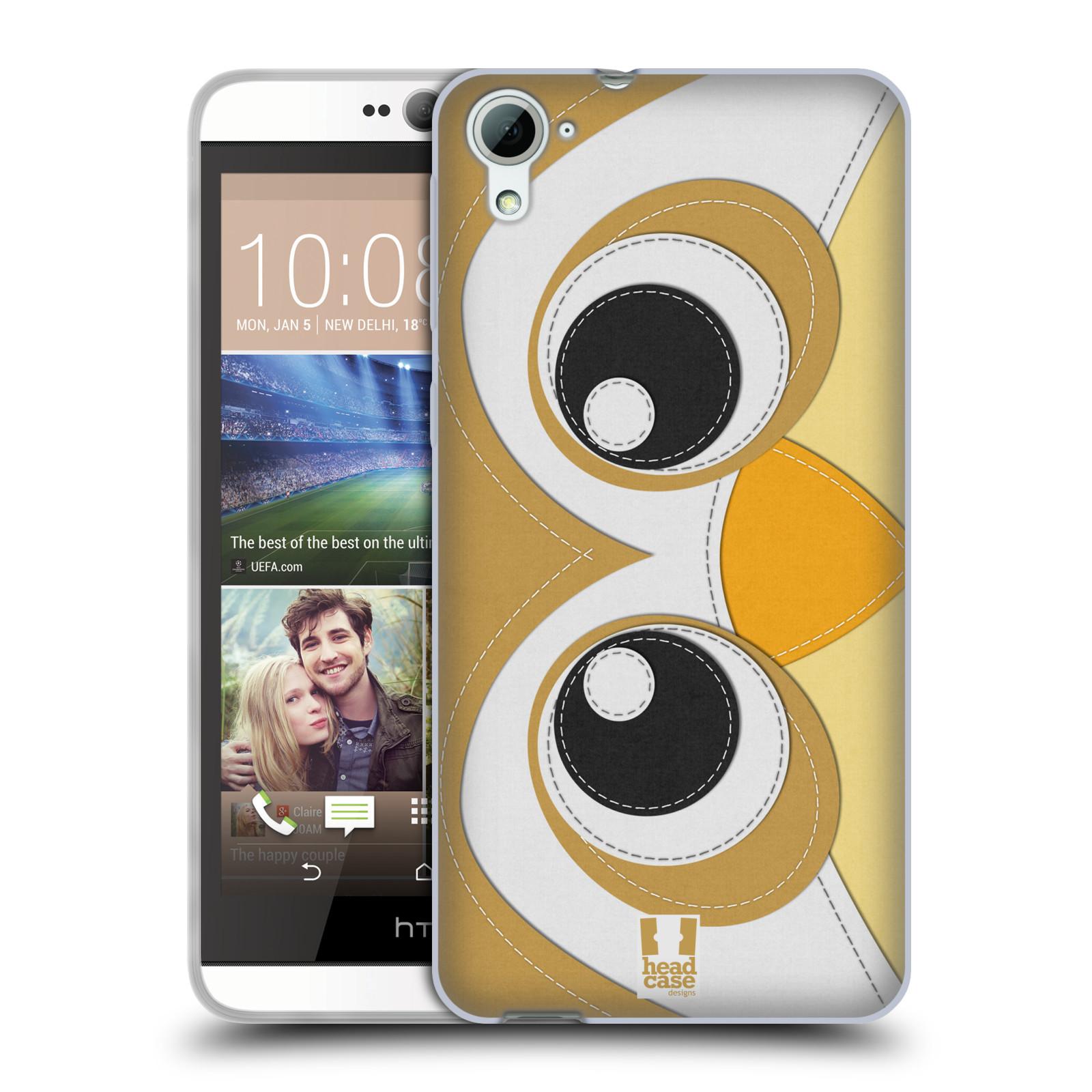 HEAD CASE silikonový obal na mobil HTC DESIRE 826 vzor zvířecí nášivka sovička