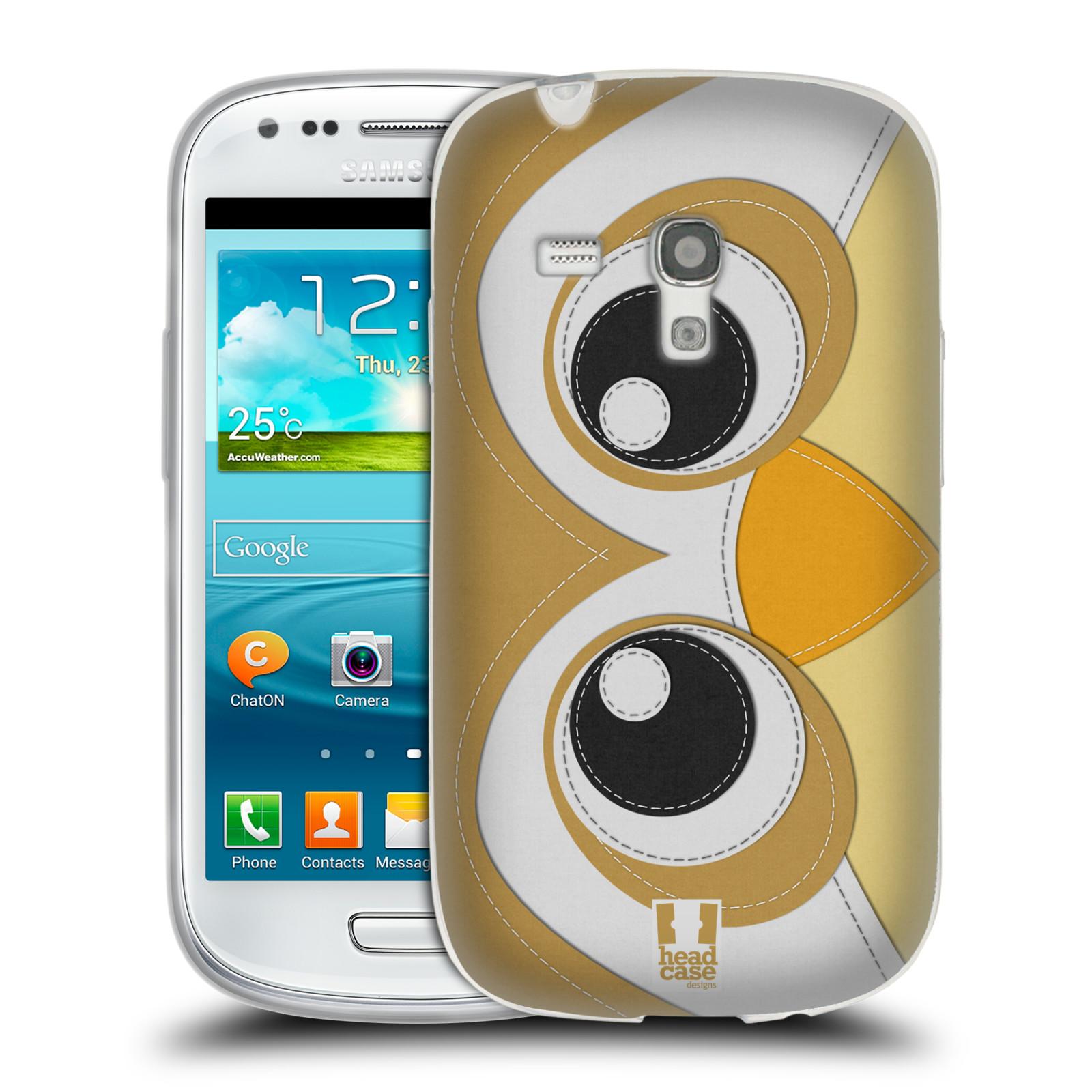 HEAD CASE silikonový obal na mobil Samsung Galaxy S3 MINI i8190 vzor zvířecí nášivka sovička