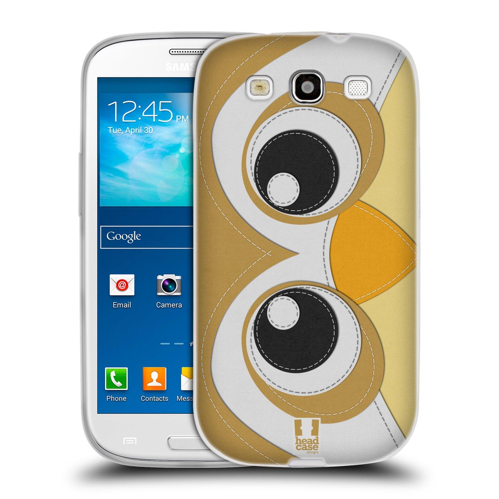 HEAD CASE silikonový obal na mobil Samsung Galaxy S3 i9300 vzor zvířecí nášivka sovička