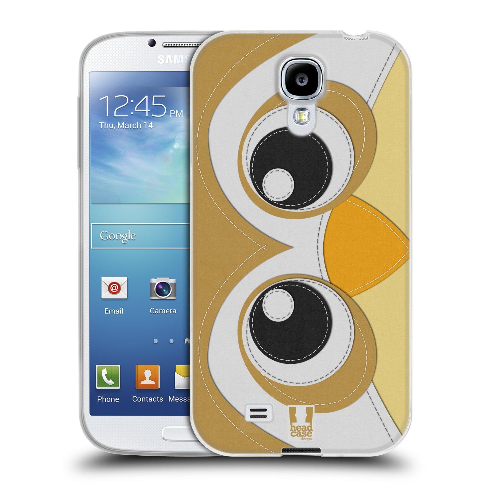 HEAD CASE silikonový obal na mobil Samsung Galaxy S4 i9500 vzor zvířecí nášivka sovička
