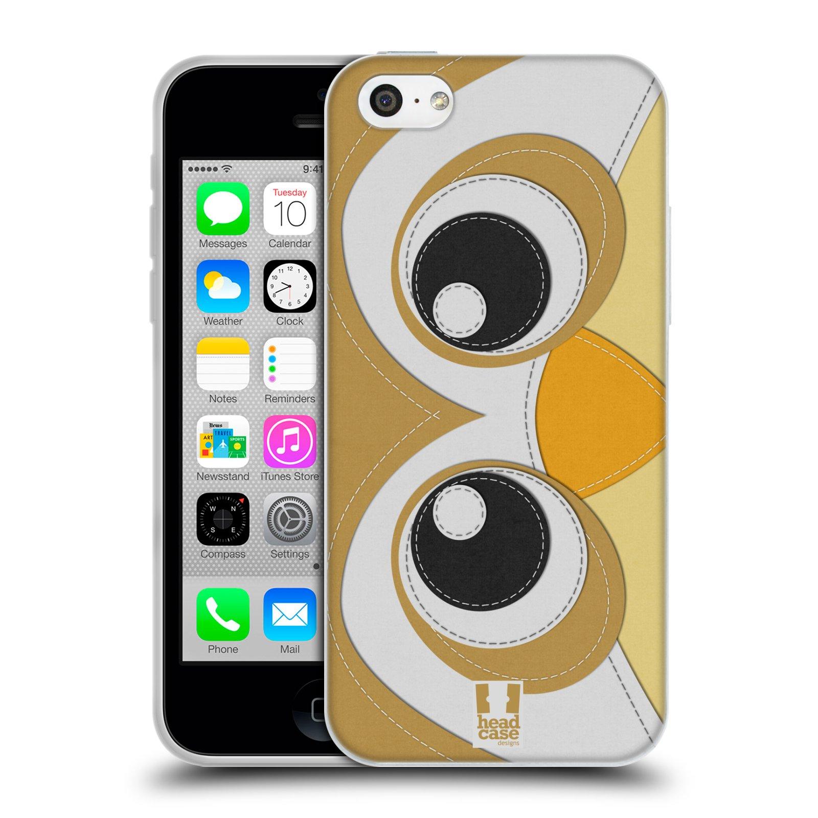 HEAD CASE silikonový obal na mobil Apple Iphone 5C vzor zvířecí nášivka sovička
