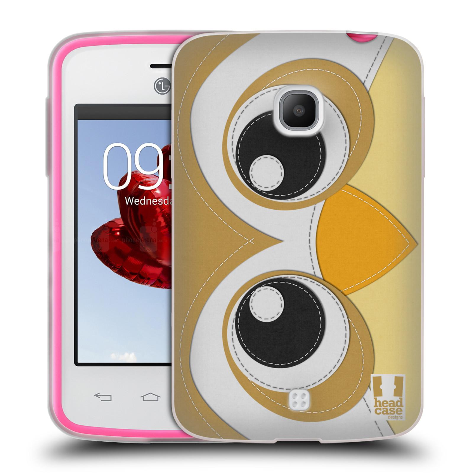 HEAD CASE silikonový obal na mobil LG L30 vzor zvířecí nášivka sovička