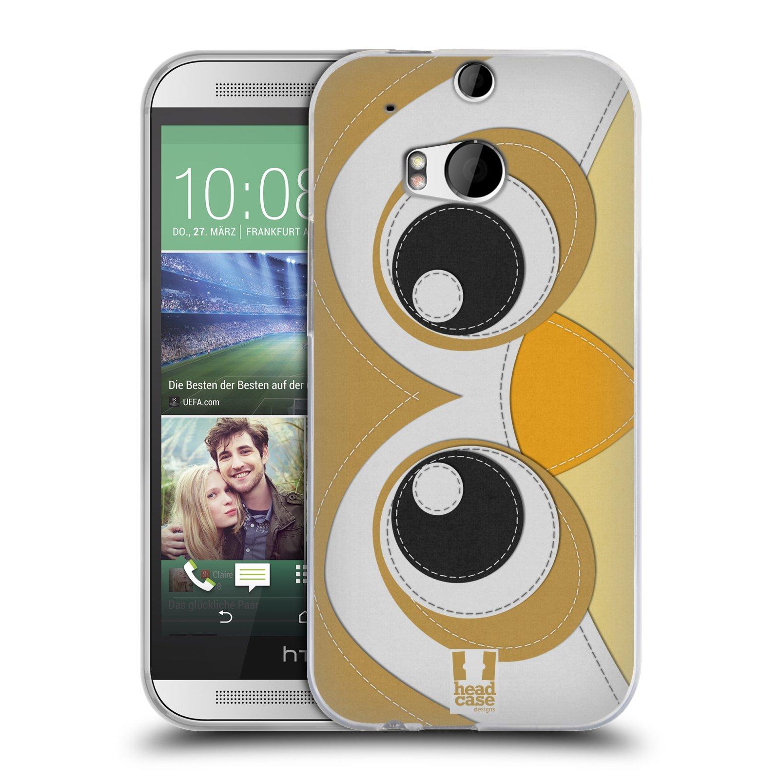 HEAD CASE silikonový obal na mobil HTC ONE (M8) vzor zvířecí nášivka sovička