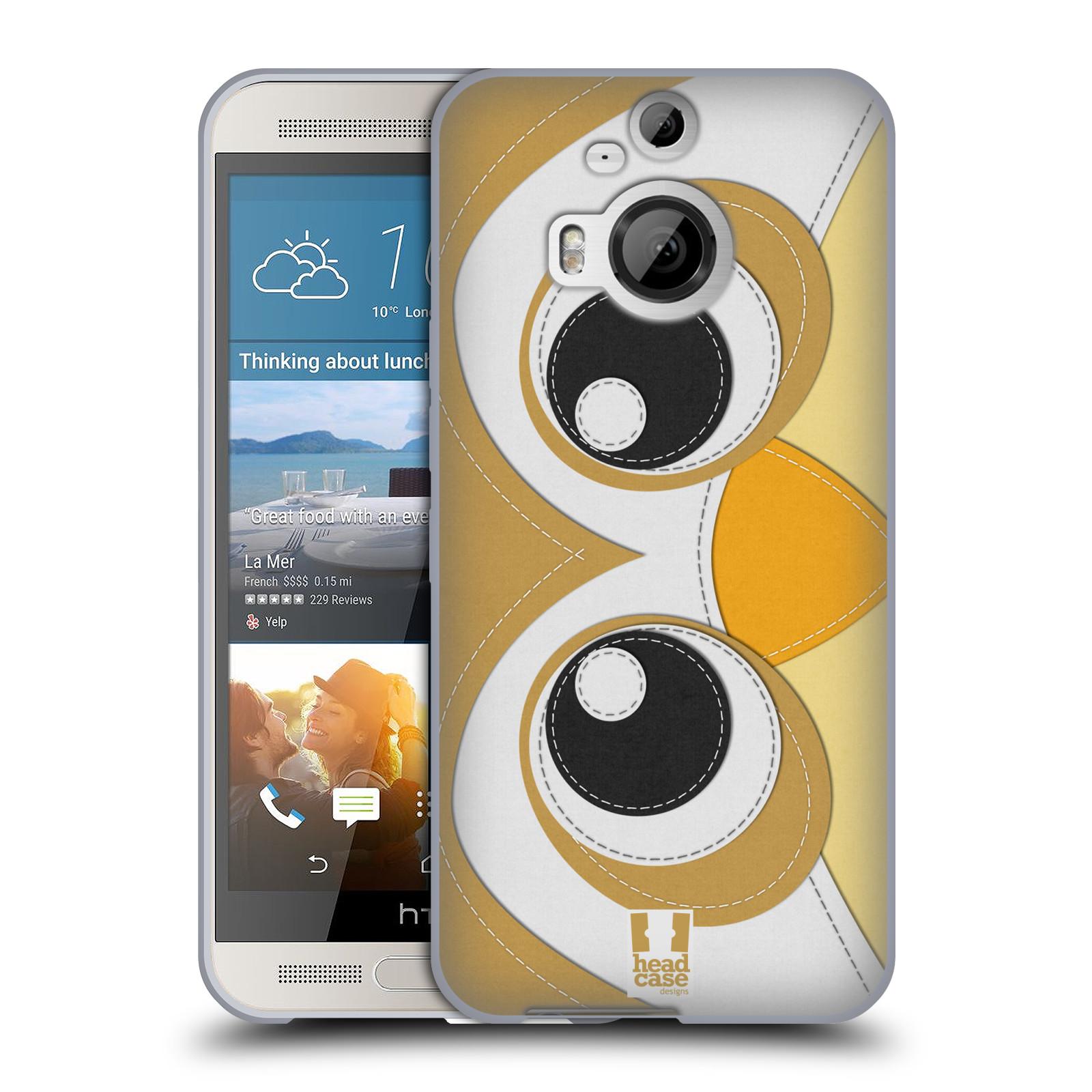 HEAD CASE silikonový obal na mobil HTC ONE M9+(PLUS) vzor zvířecí nášivka sovička