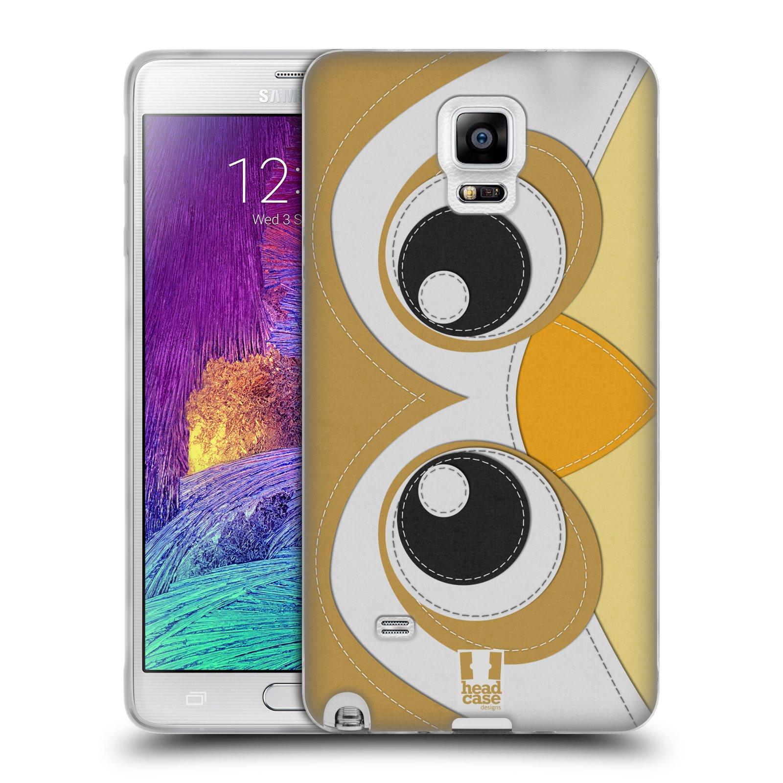 HEAD CASE silikonový obal na mobil Samsung Galaxy Note 4 (N910) vzor zvířecí nášivka sovička