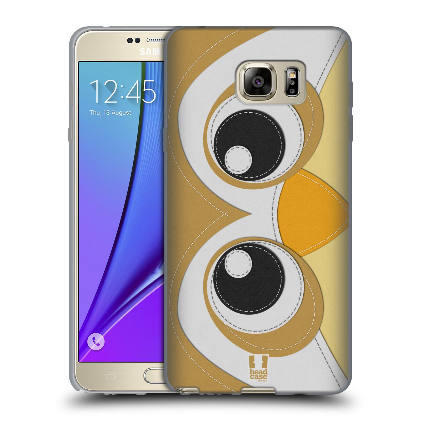 HEAD CASE silikonový obal na mobil Samsung Galaxy Note 5 (N920) vzor zvířecí nášivka sovička