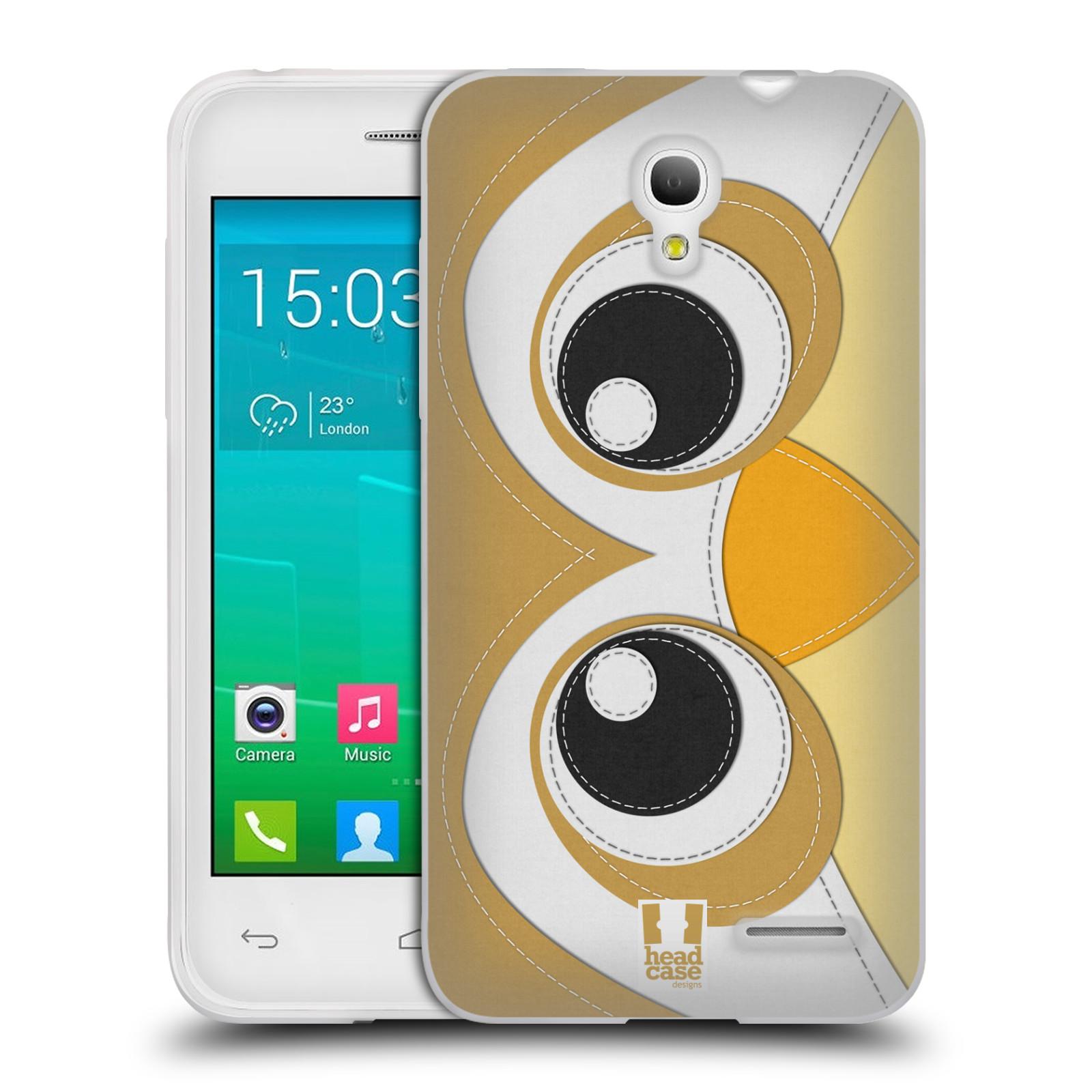 HEAD CASE silikonový obal na mobil Alcatel POP S3 OT-5050Y vzor zvířecí nášivka sovička