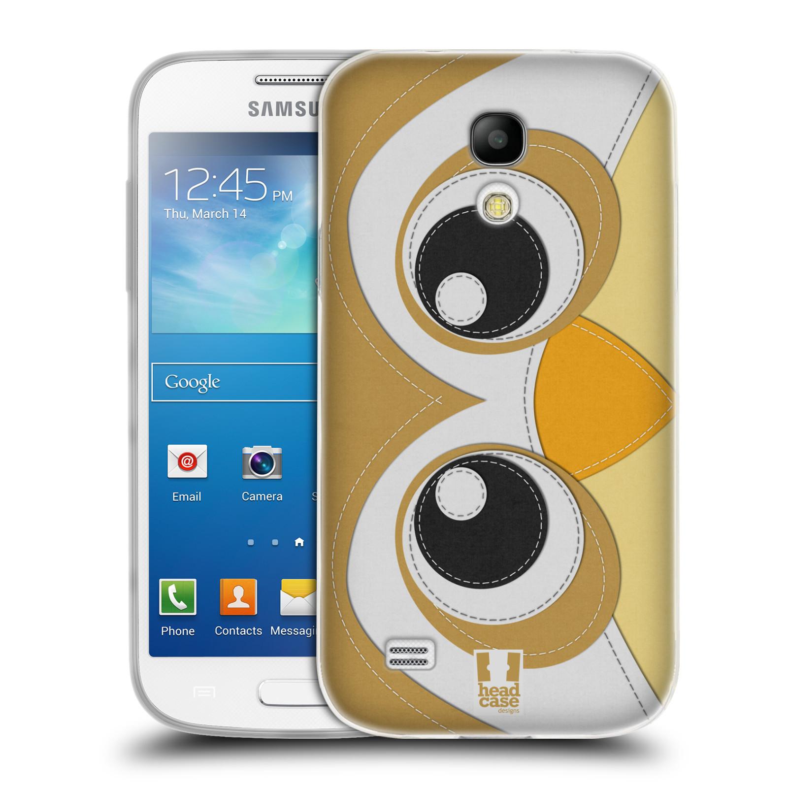 HEAD CASE silikonový obal na mobil Samsung Galaxy S4 MINI vzor zvířecí nášivka sovička