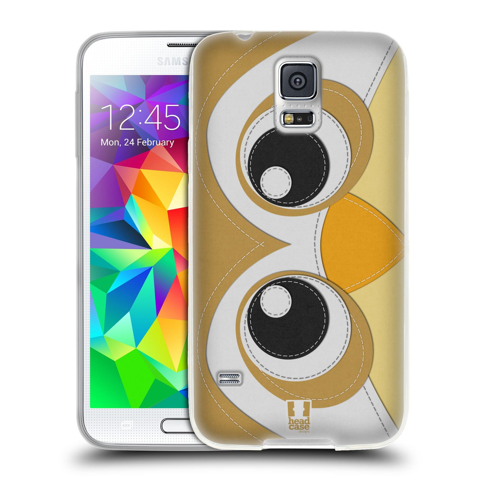 HEAD CASE silikonový obal na mobil Samsung Galaxy S5/S5 NEO vzor zvířecí nášivka sovička
