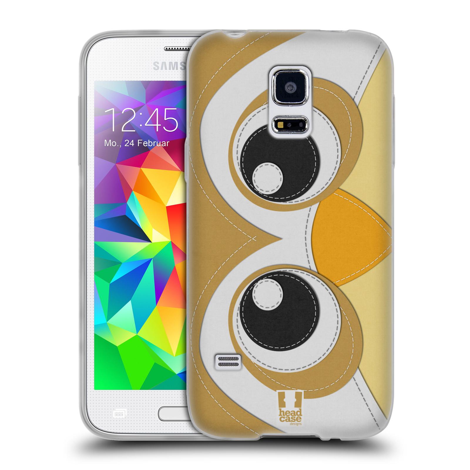 HEAD CASE silikonový obal na mobil Samsung Galaxy S5 MINI vzor zvířecí nášivka sovička
