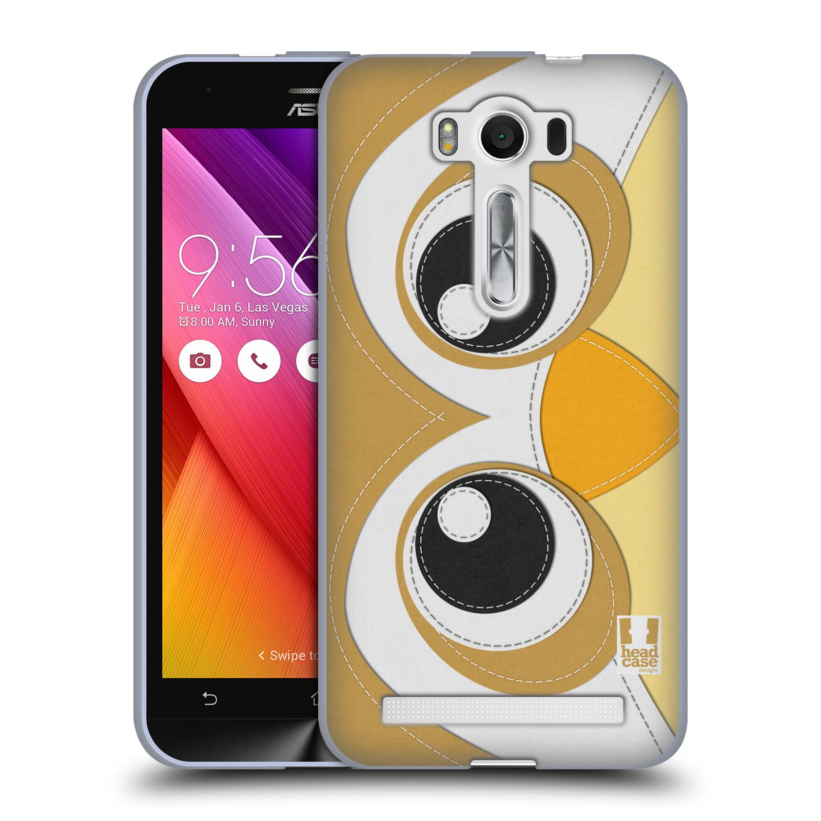 "HEAD CASE silikonový obal na mobil Asus Zenfone 2 LASER (ZE500KL s 5"" displejem) vzor zvířecí nášivka sovička"