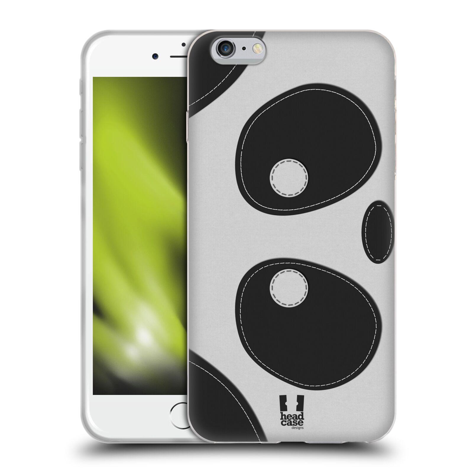HEAD CASE silikonový obal na mobil Apple Iphone 6 PLUS/ 6S PLUS vzor zvířecí nášivka medvídek panda