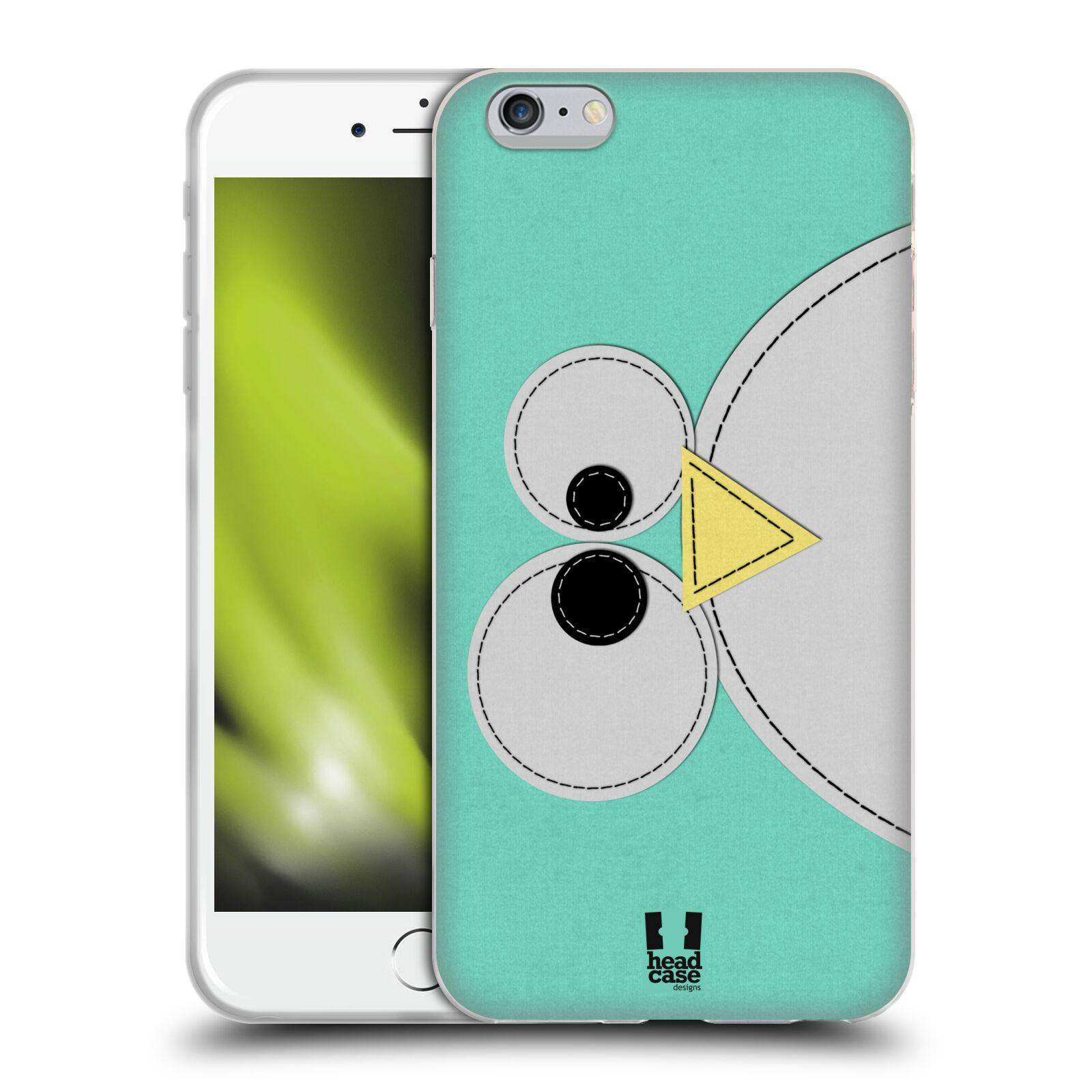 HEAD CASE silikonový obal na mobil Apple Iphone 6 PLUS/ 6S PLUS vzor zvířecí nášivka modrý tučňák