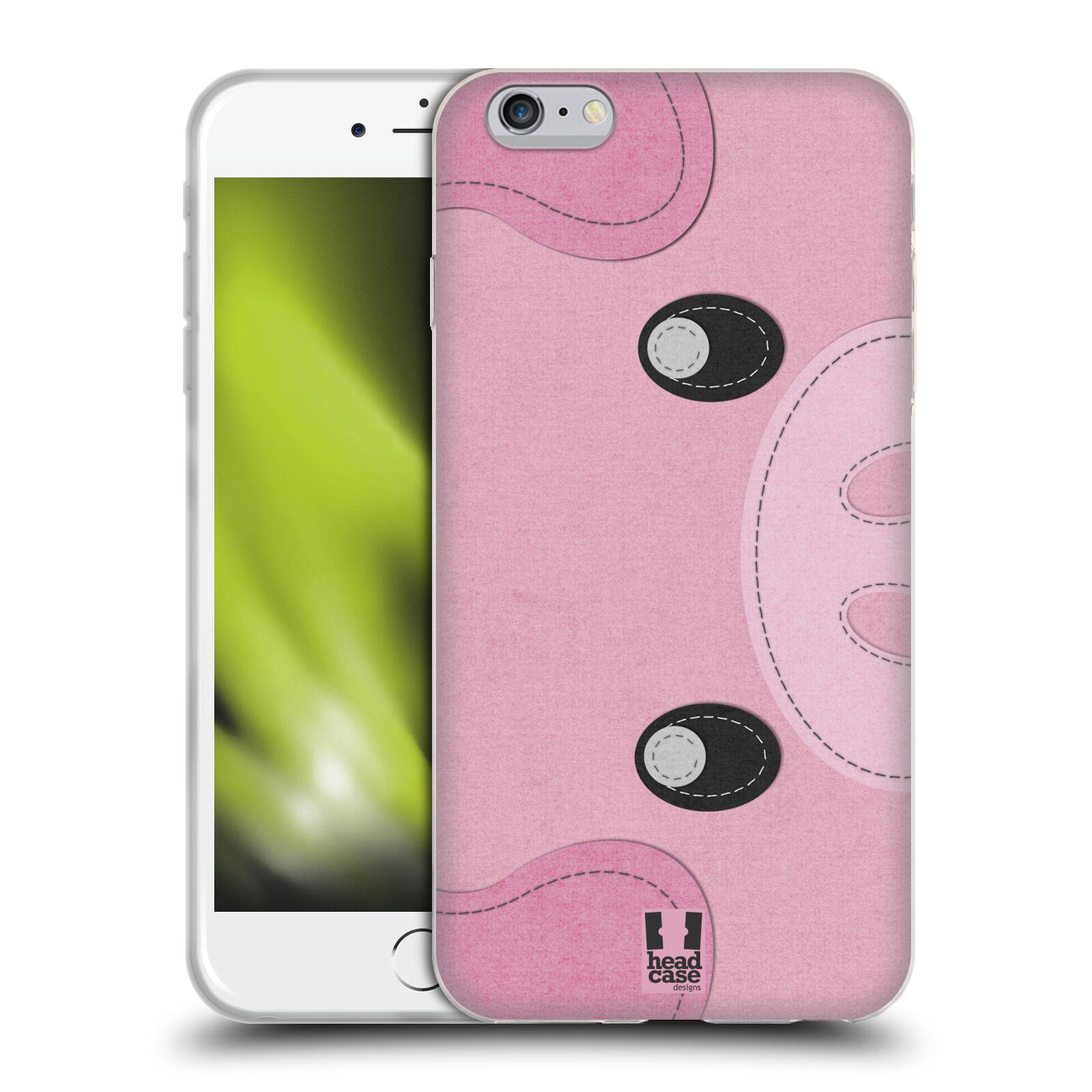 HEAD CASE silikonový obal na mobil Apple Iphone 6 PLUS/ 6S PLUS vzor zvířecí nášivka prasátko