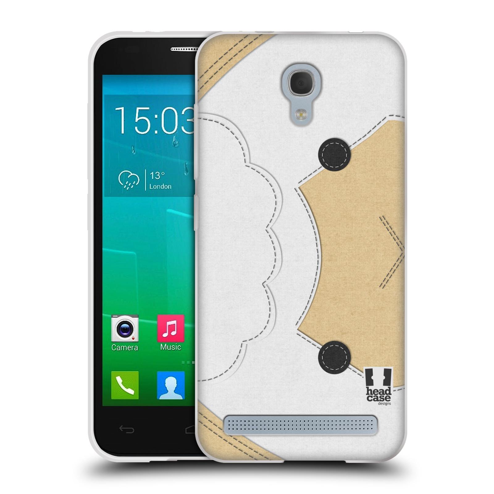 HEAD CASE silikonový obal na mobil Alcatel Idol 2 MINI S 6036Y vzor zvířecí nášivka ovečka