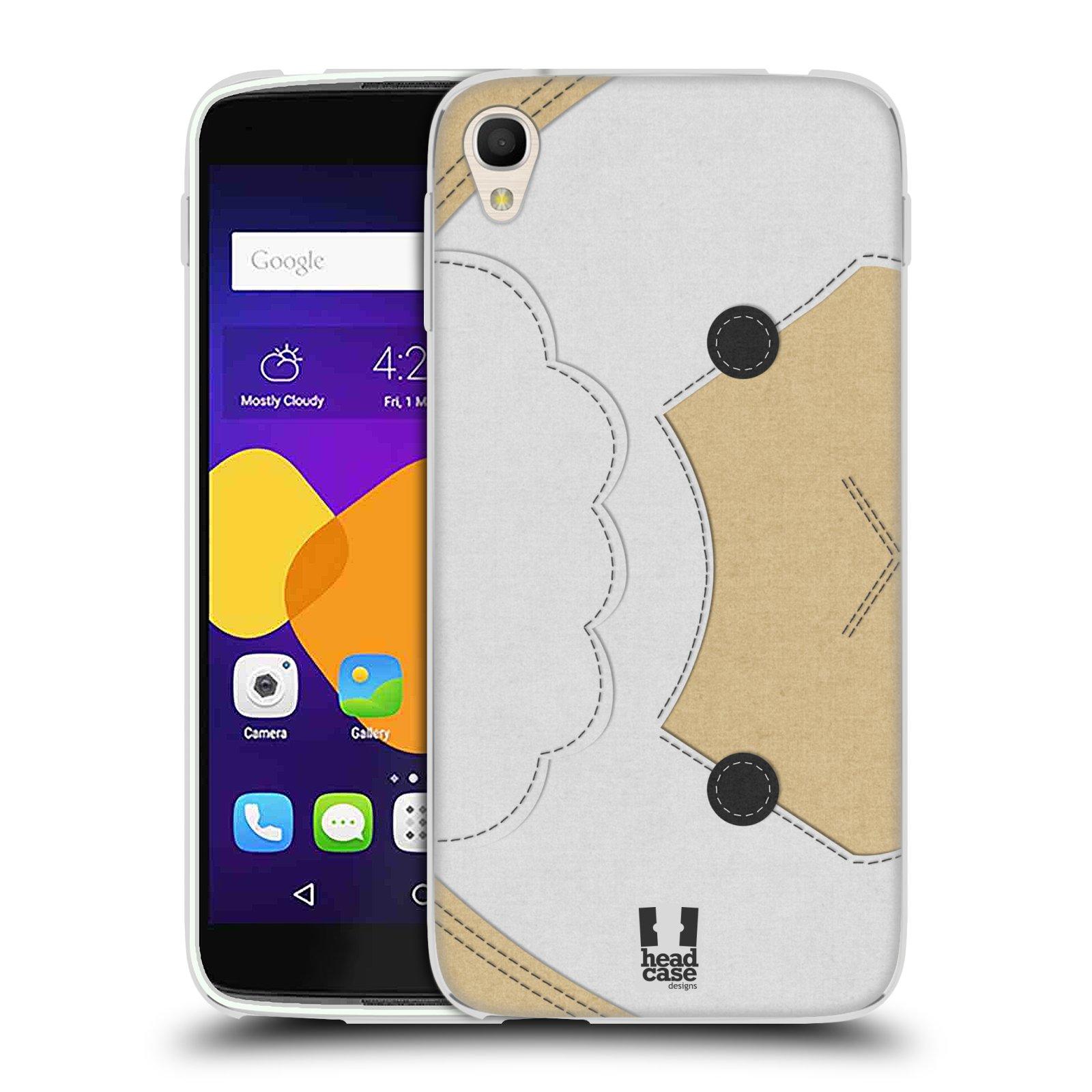 HEAD CASE silikonový obal na mobil Alcatel Idol 3 OT-6045Y (5.5) vzor zvířecí nášivka ovečka