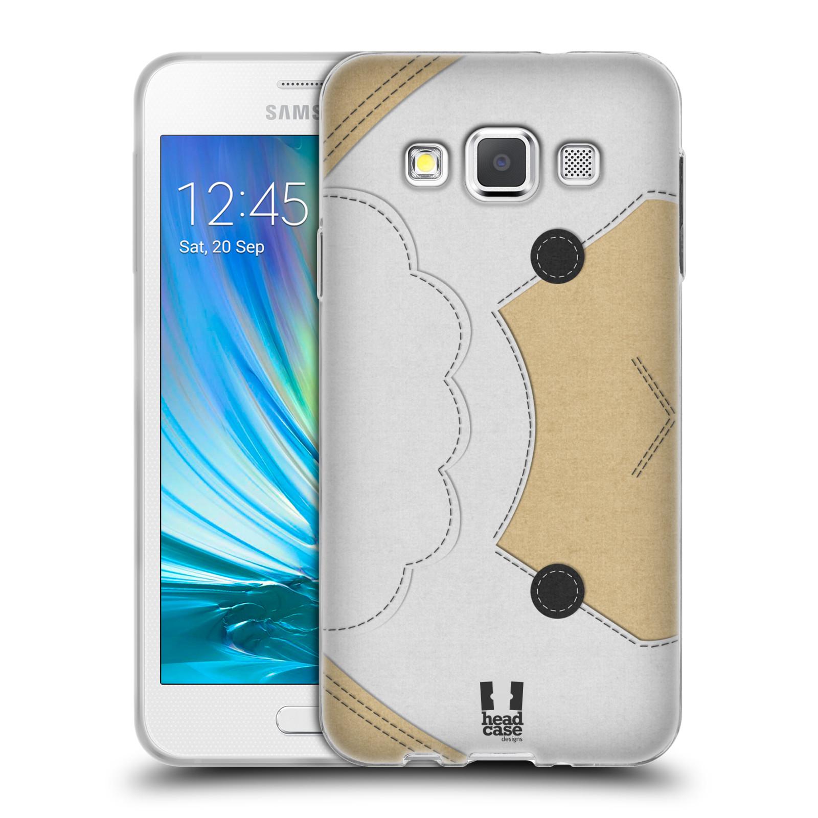 HEAD CASE silikonový obal na mobil Samsung Galaxy A3 vzor zvířecí nášivka ovečka