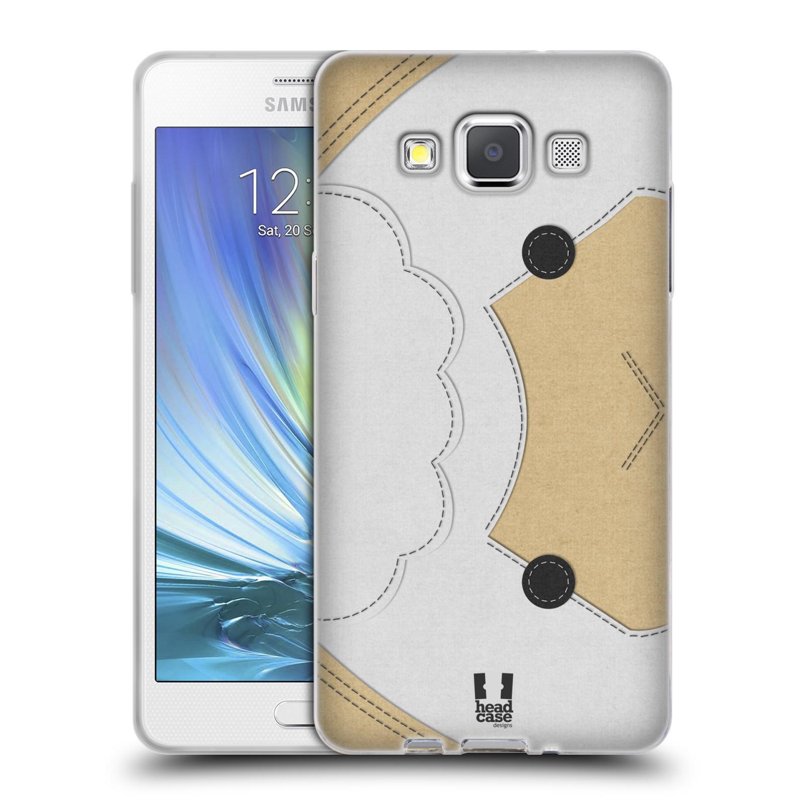 HEAD CASE silikonový obal na mobil Samsung Galaxy A5 vzor zvířecí nášivka ovečka