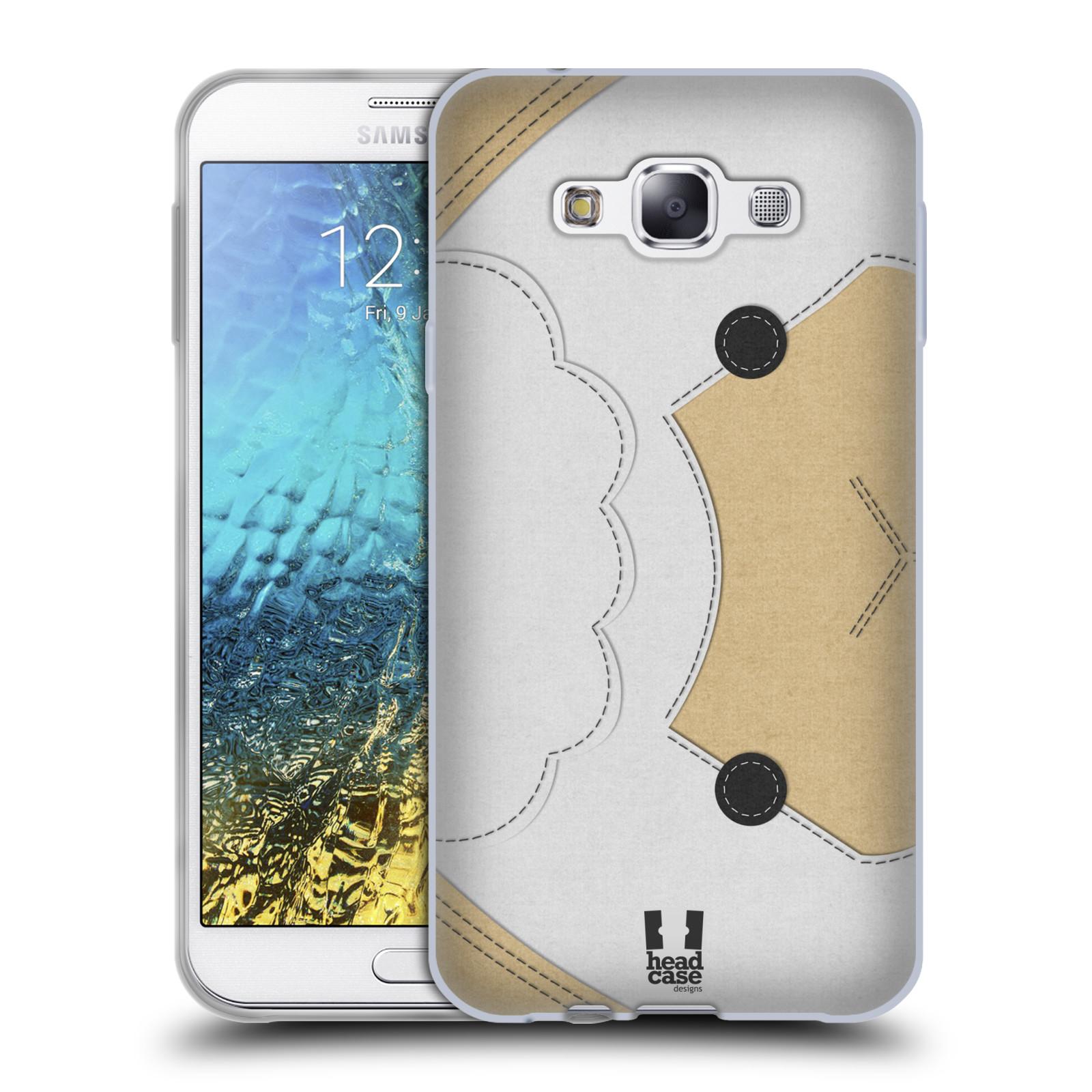 HEAD CASE silikonový obal na mobil Samsung Galaxy E7 vzor zvířecí nášivka ovečka