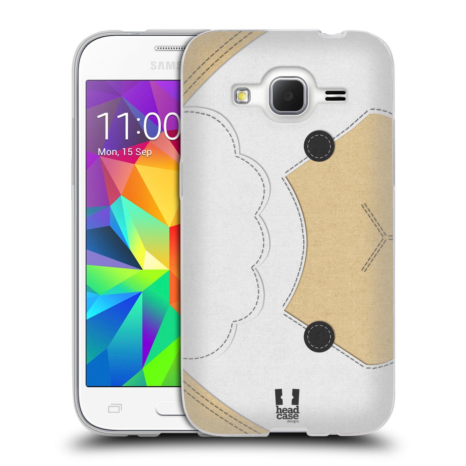 HEAD CASE silikonový obal na mobil Samsung Galaxy Core Prime (G360) vzor zvířecí nášivka ovečka