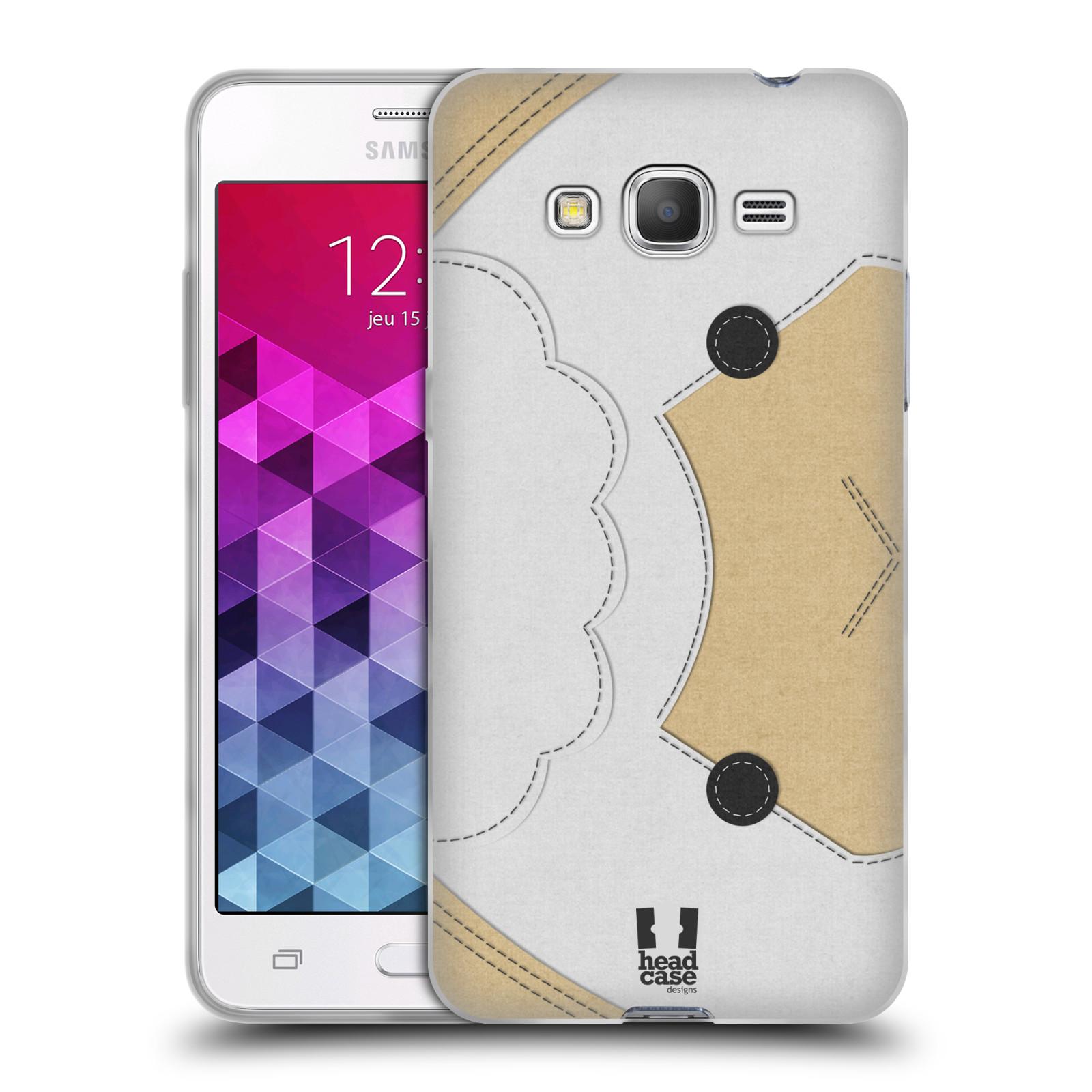 HEAD CASE silikonový obal na mobil Samsung Galaxy GRAND PRIME vzor zvířecí nášivka ovečka