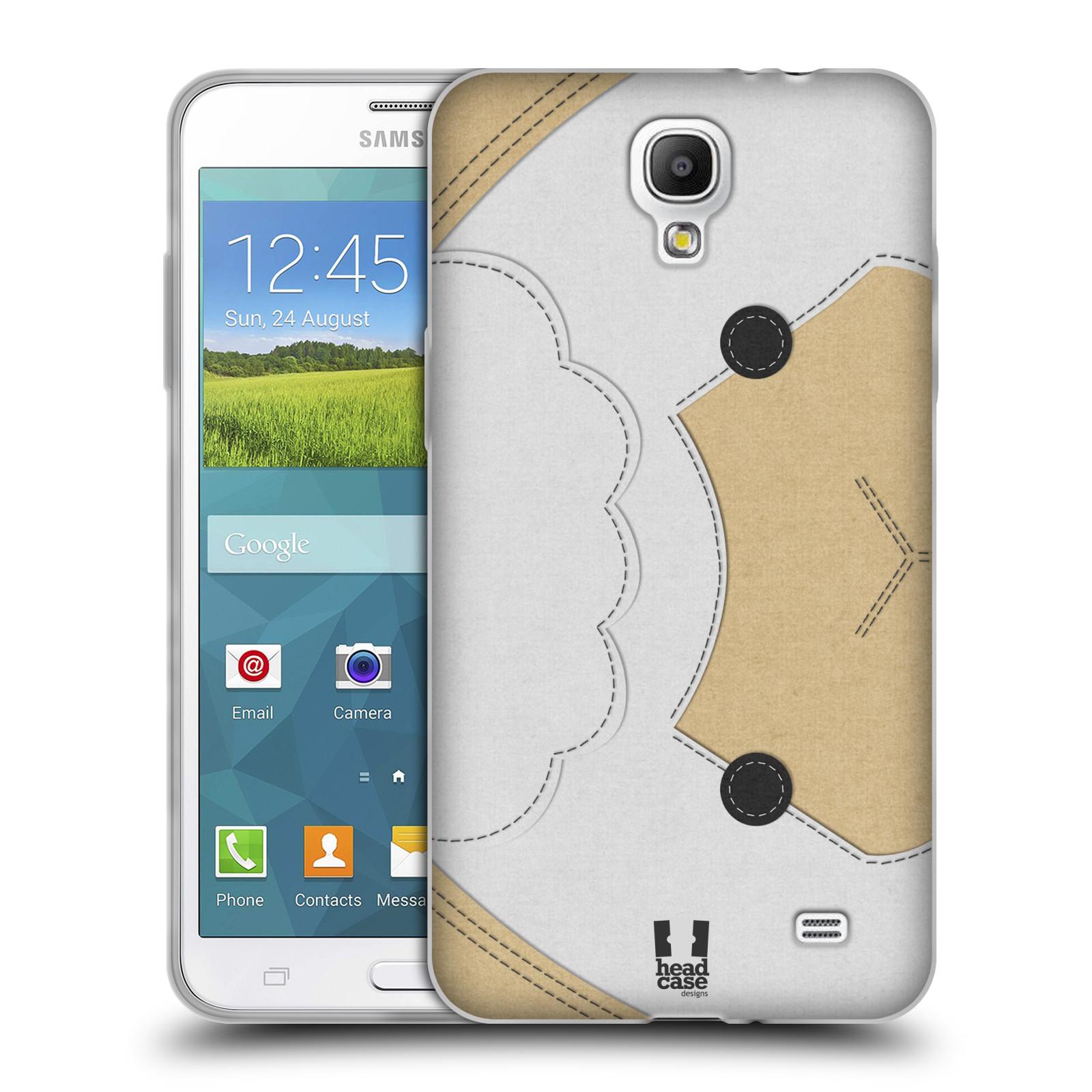 HEAD CASE silikonový obal na mobil Samsung Galaxy Mega 2 vzor zvířecí nášivka ovečka