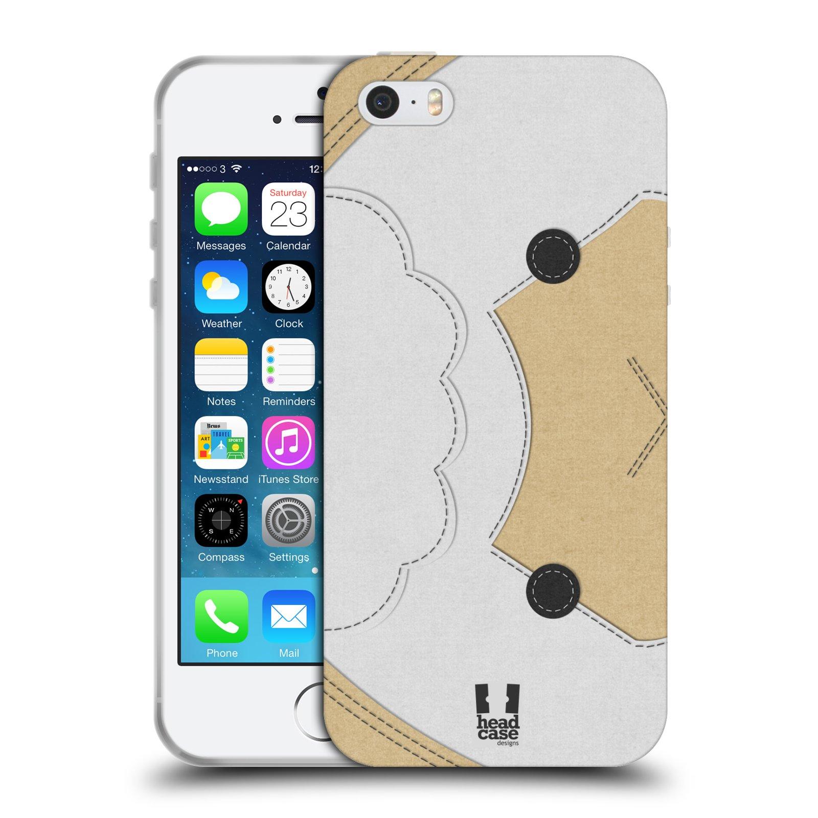 HEAD CASE silikonový obal na mobil Apple Iphone 5/5S vzor zvířecí nášivka ovečka