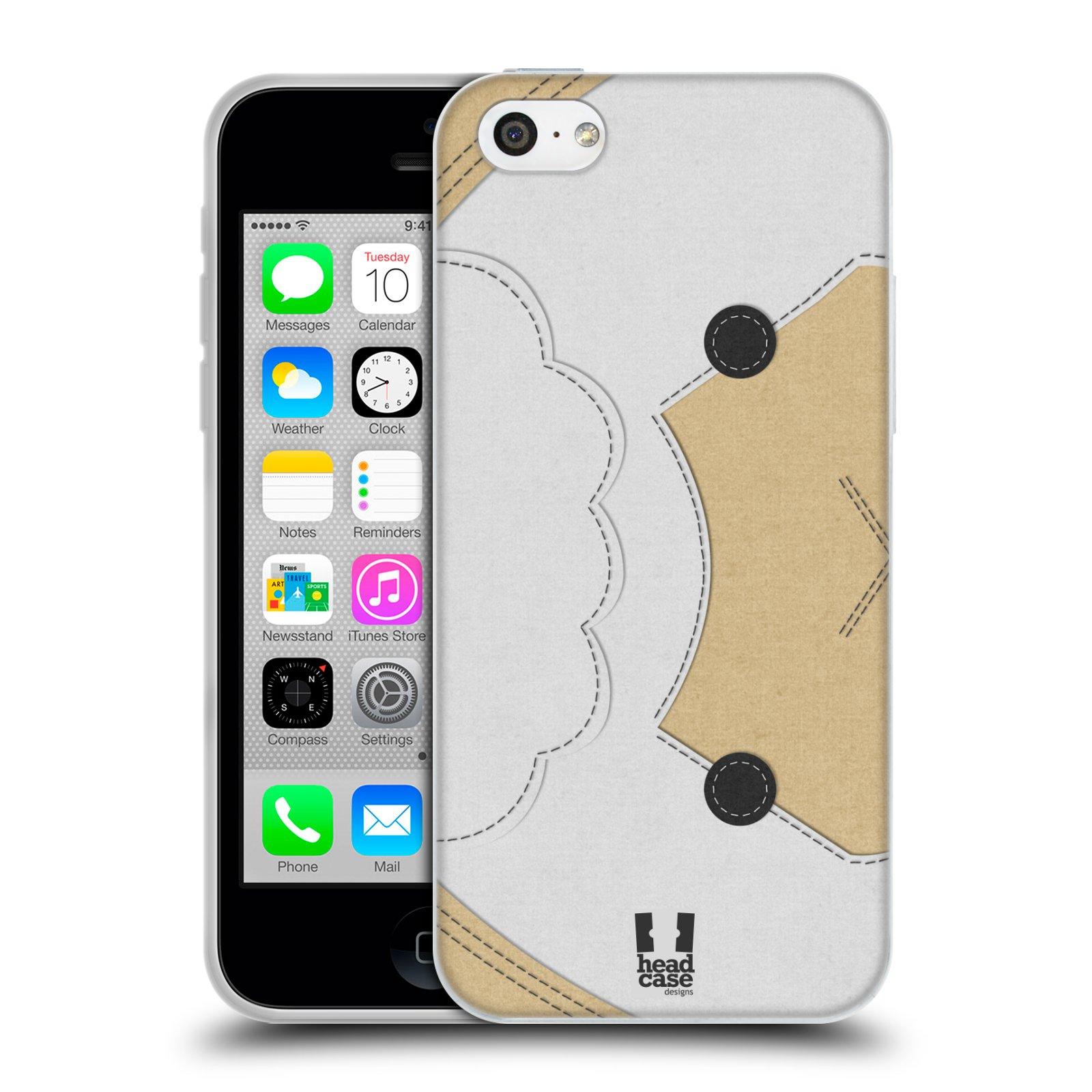 HEAD CASE silikonový obal na mobil Apple Iphone 5C vzor zvířecí nášivka ovečka