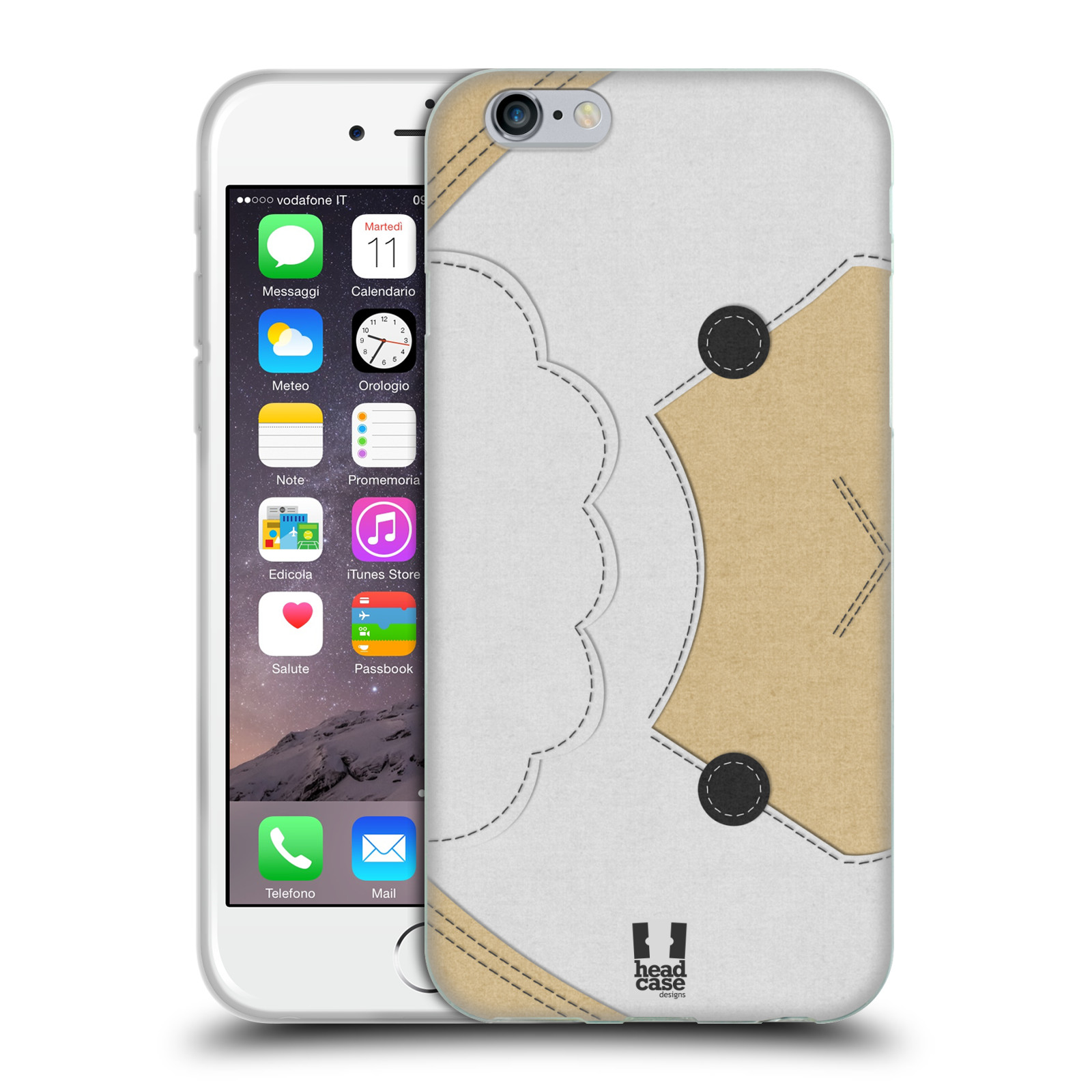 HEAD CASE silikonový obal na mobil Apple Iphone 6/6S vzor zvířecí nášivka ovečka