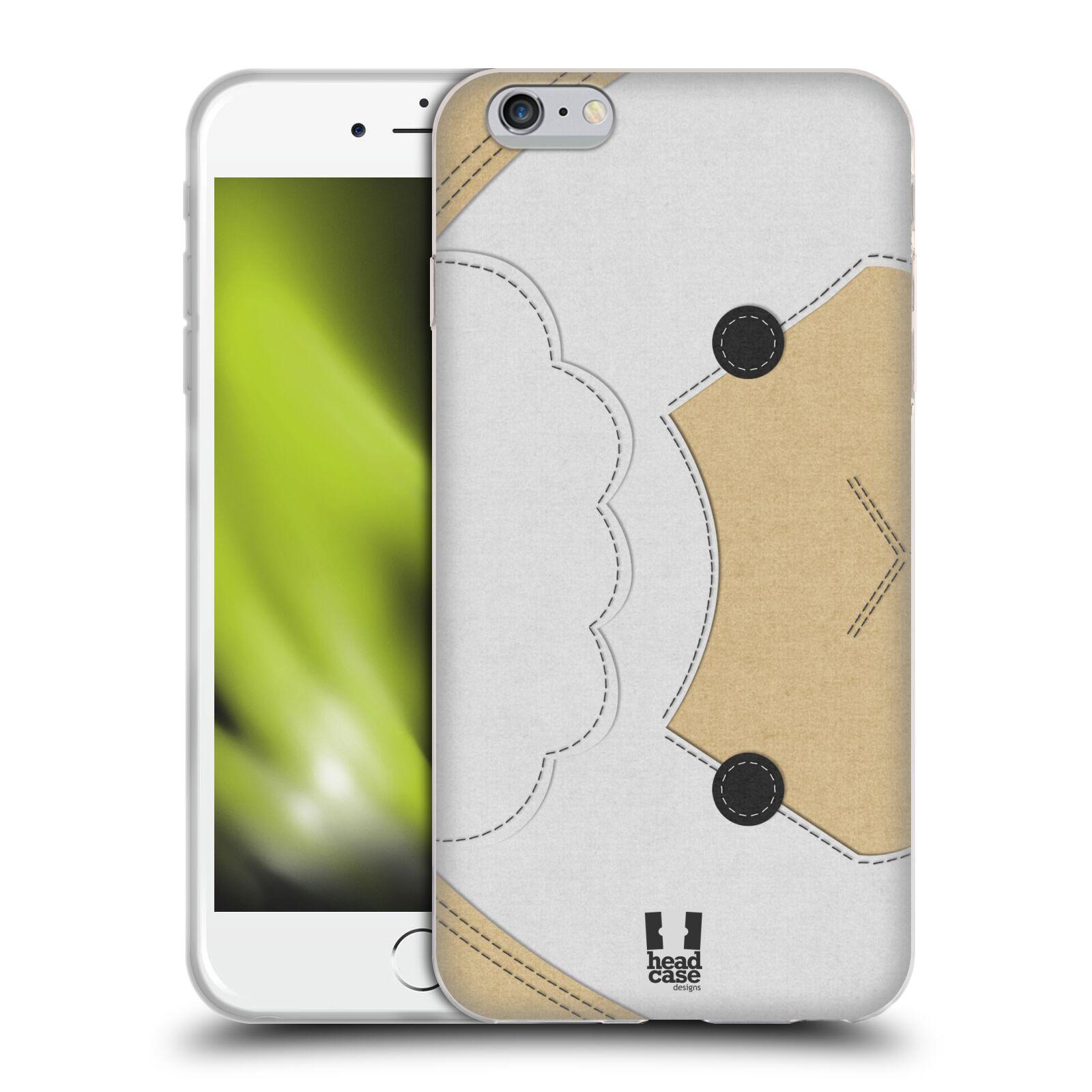HEAD CASE silikonový obal na mobil Apple Iphone 6 PLUS/ 6S PLUS vzor zvířecí nášivka ovečka