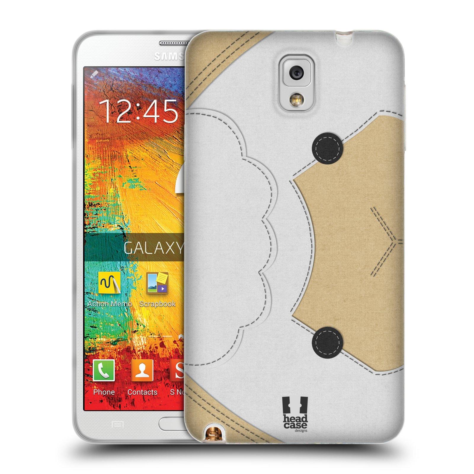 HEAD CASE silikonový obal na mobil Samsung Galaxy Note 3 (N9005) vzor zvířecí nášivka ovečka