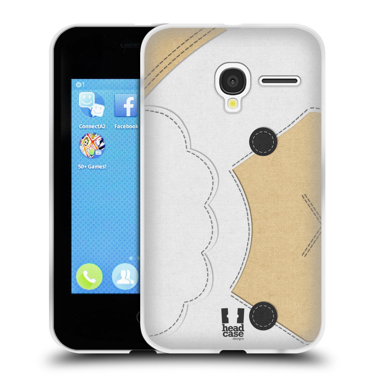 HEAD CASE silikonový obal na mobil Alcatel PIXI 3 OT-4022D (3,5 palcový displej) vzor zvířecí nášivka ovečka