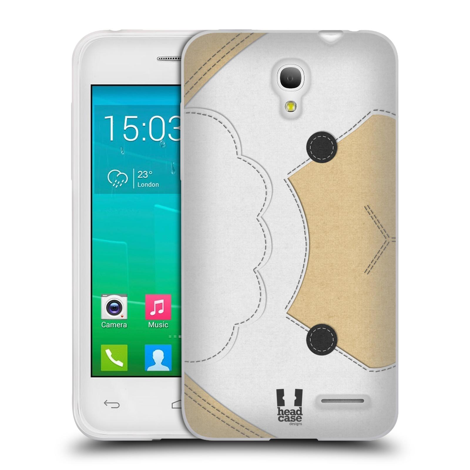 HEAD CASE silikonový obal na mobil Alcatel POP S3 OT-5050Y vzor zvířecí nášivka ovečka