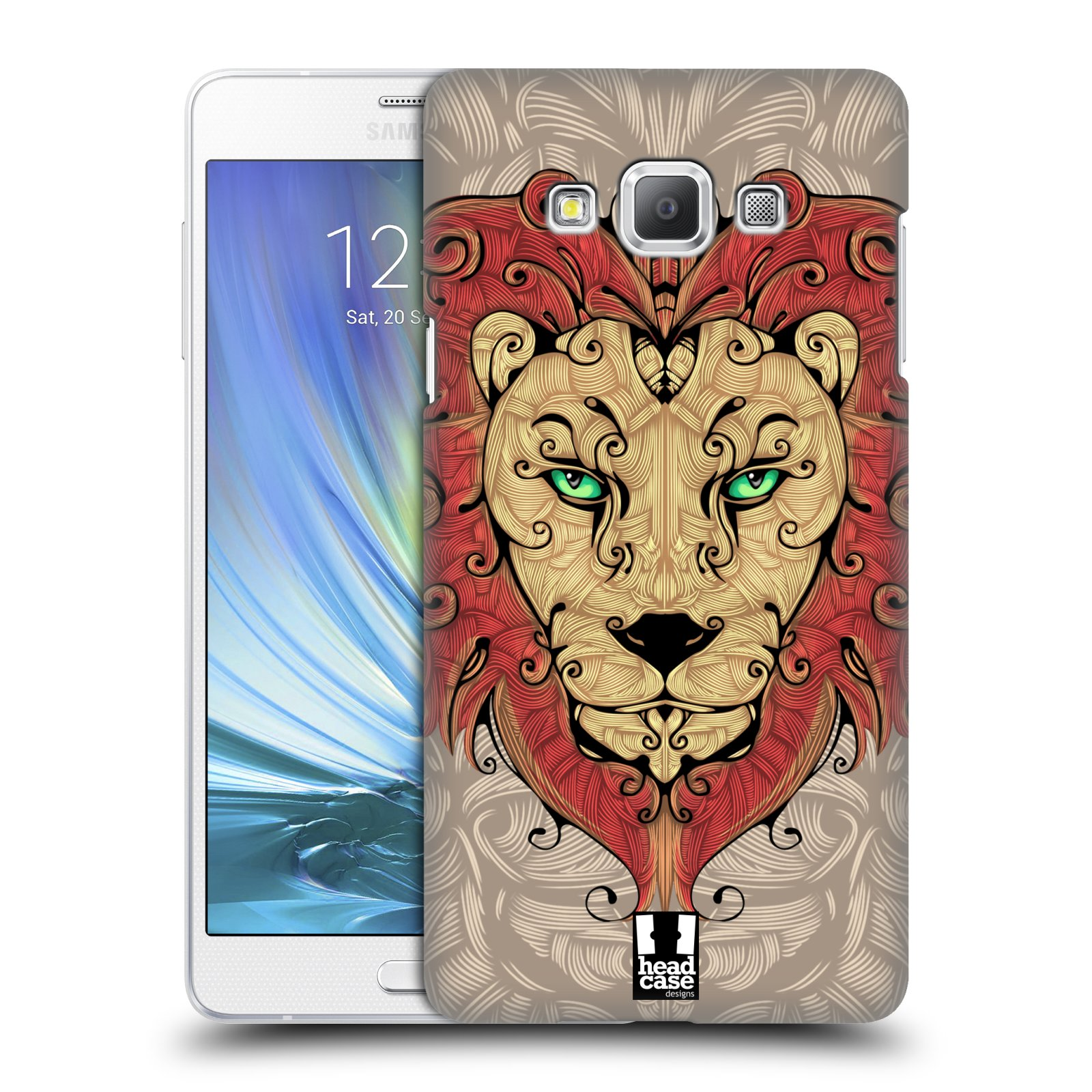 HEAD CASE plastový obal na mobil SAMSUNG GALAXY A7 vzor kudrlinky zvíře lev