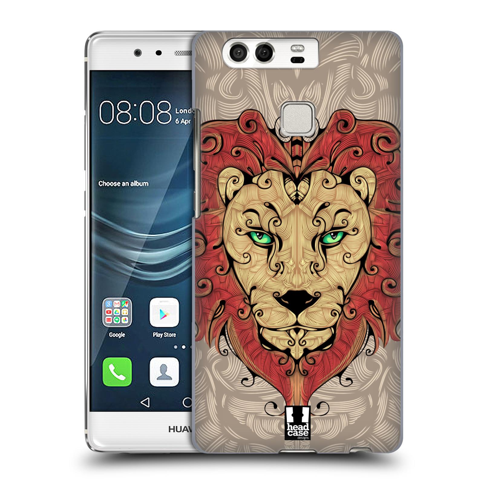 HEAD CASE plastový obal na mobil Huawei P9 / P9 DUAL SIM vzor kudrlinky zvíře lev